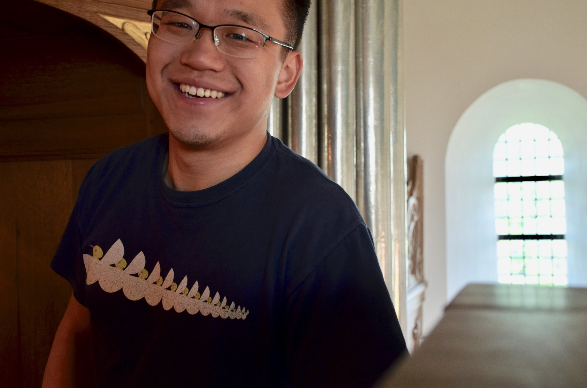 Adrian Cho is all smiles in Kantens, Holland.