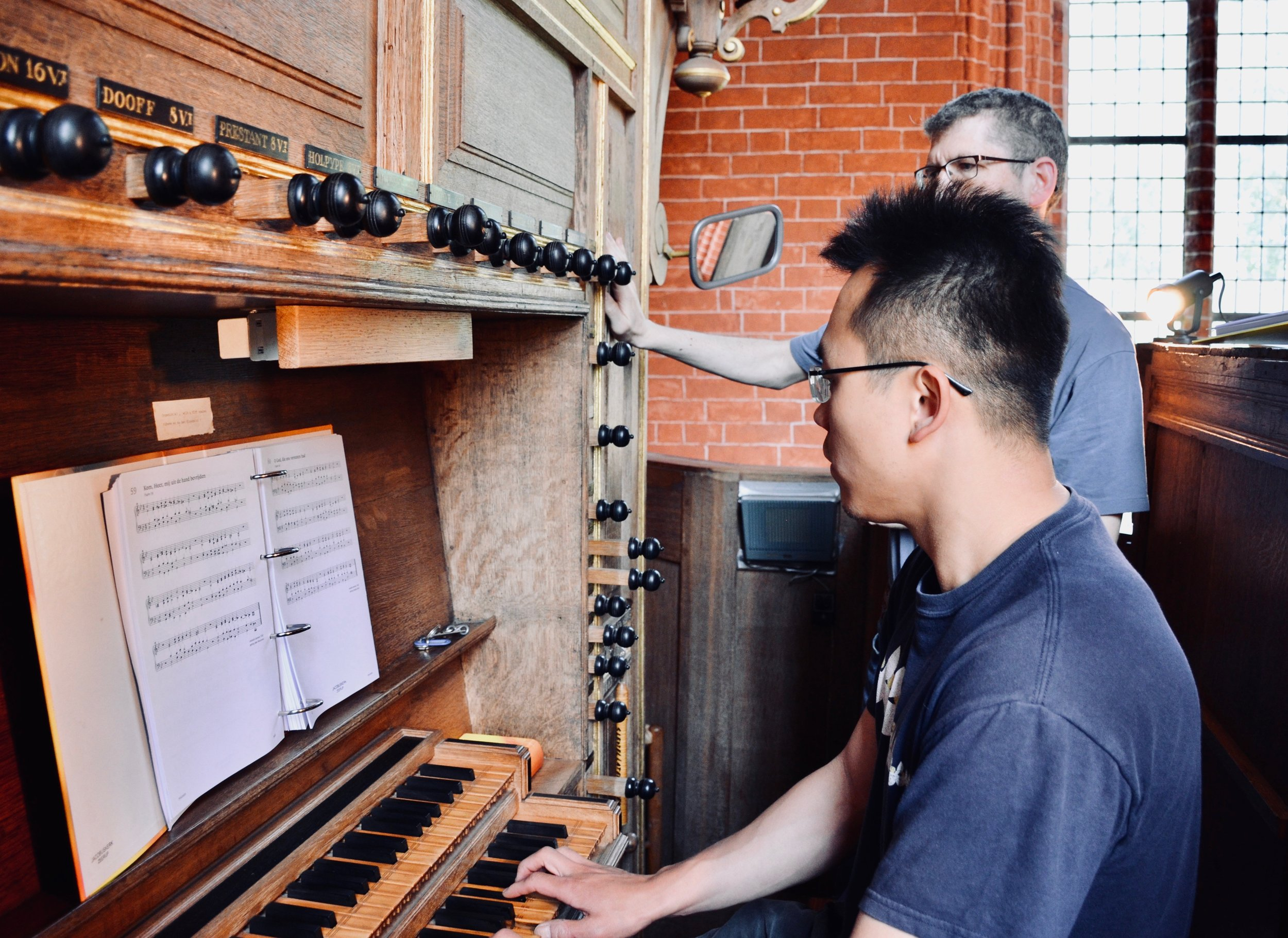 Adrian Cho at the 1651 Faber organ, Zeerijp, Netherlands.
