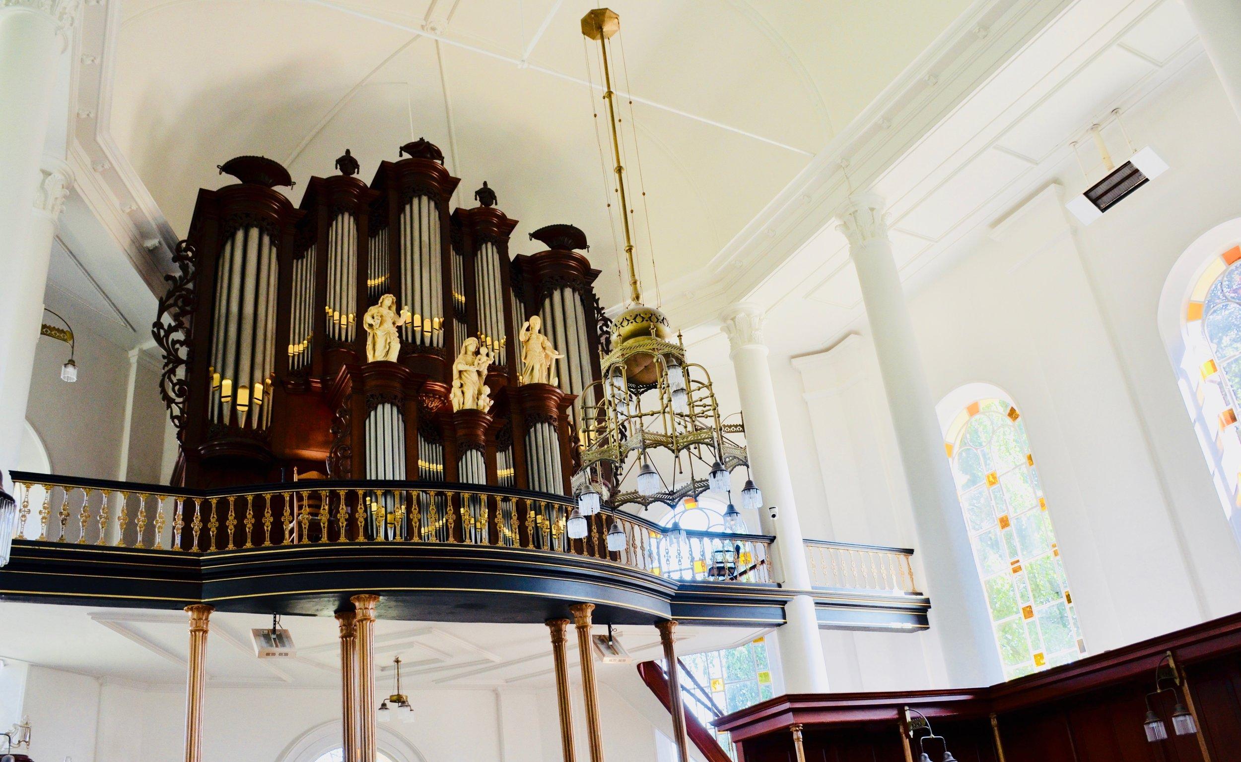 1823 Lohman organ, Hervormde kerk, Farmsum, Netherlands.