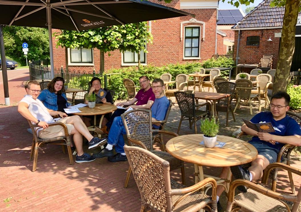Lunch in Middlestum, Holland.