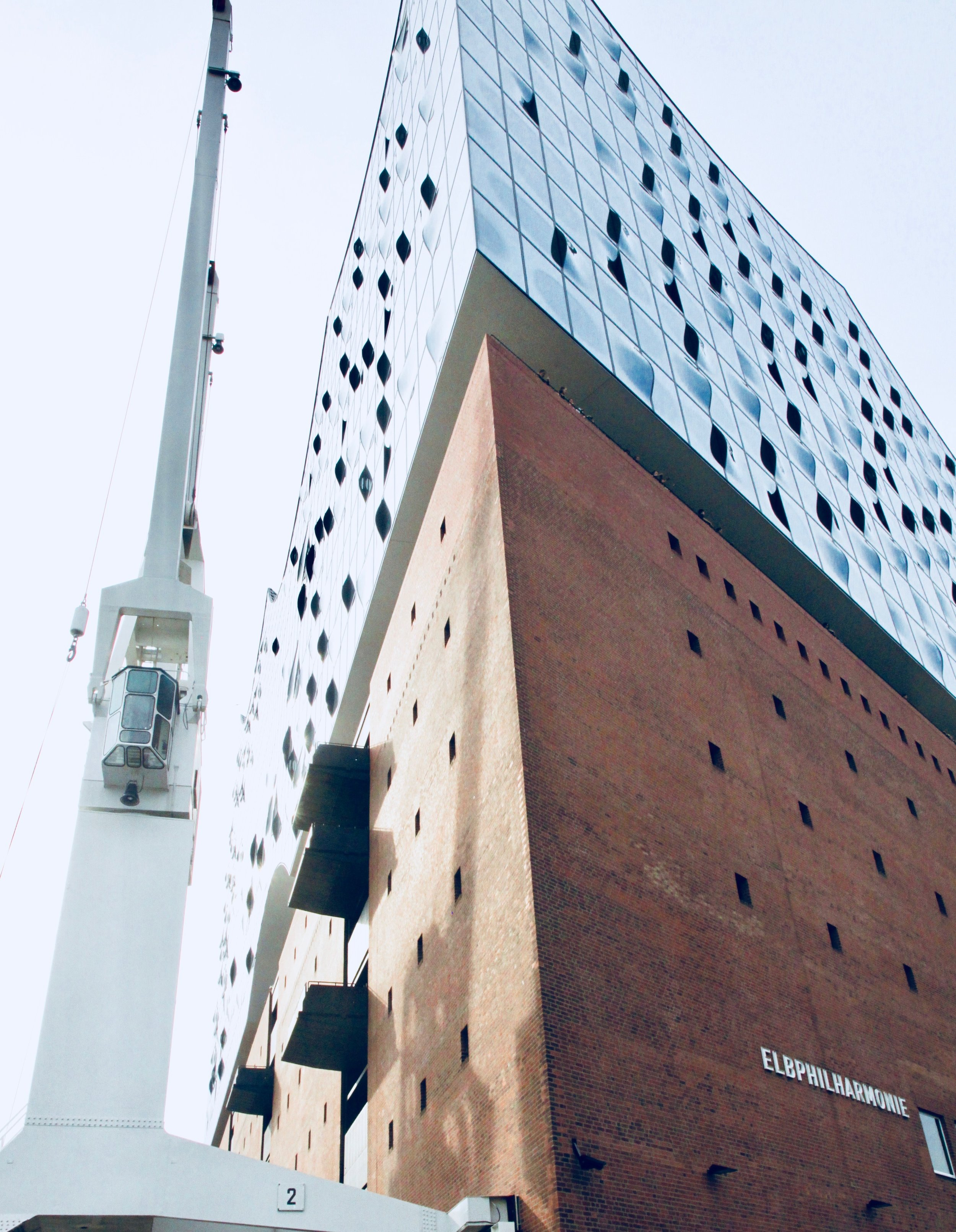 "The new symphony hall in Hamburg, Germany, ""Elbphilharmonie"""
