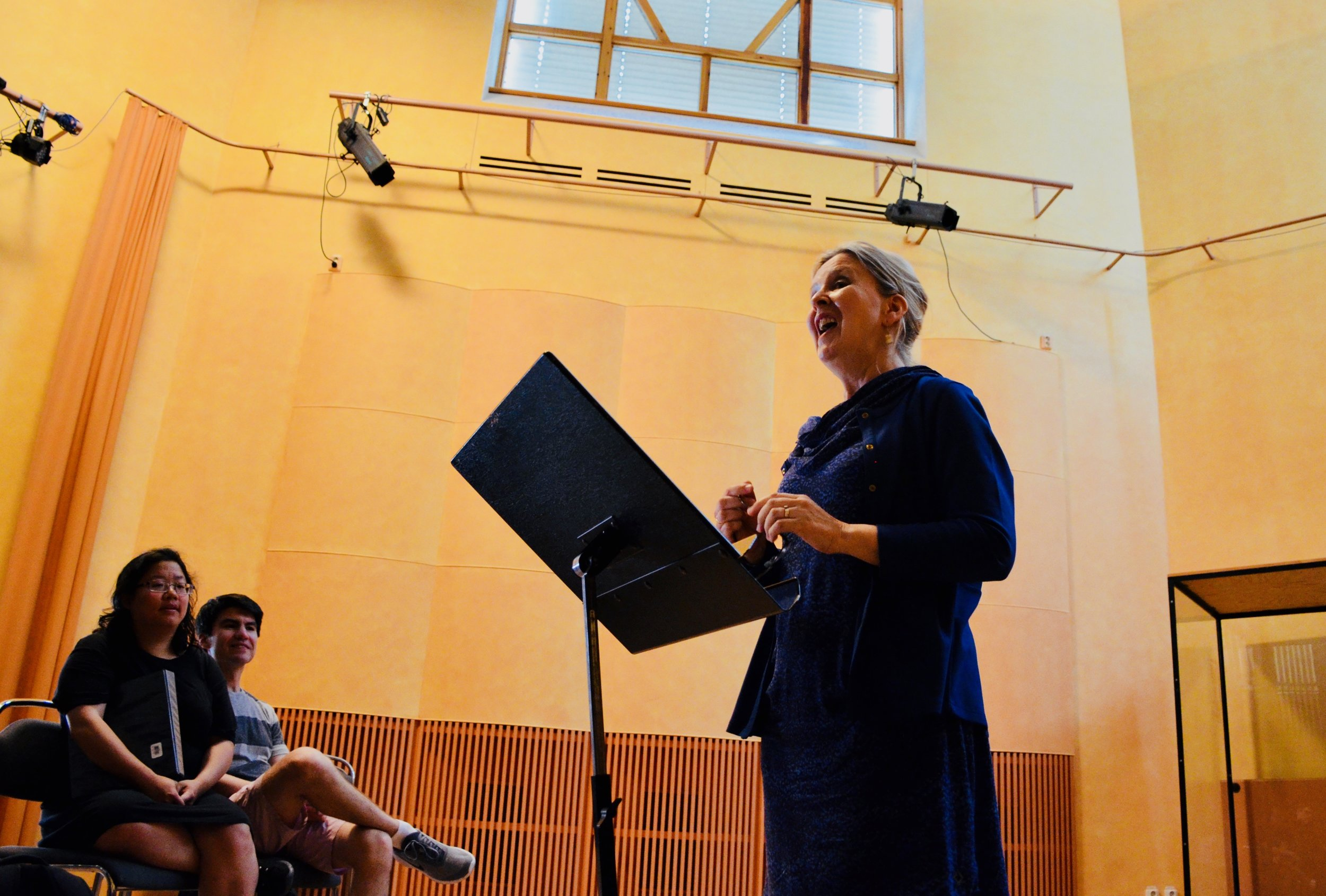 Prof. Karin Nelson lectures to members of Boston Organ Studio.