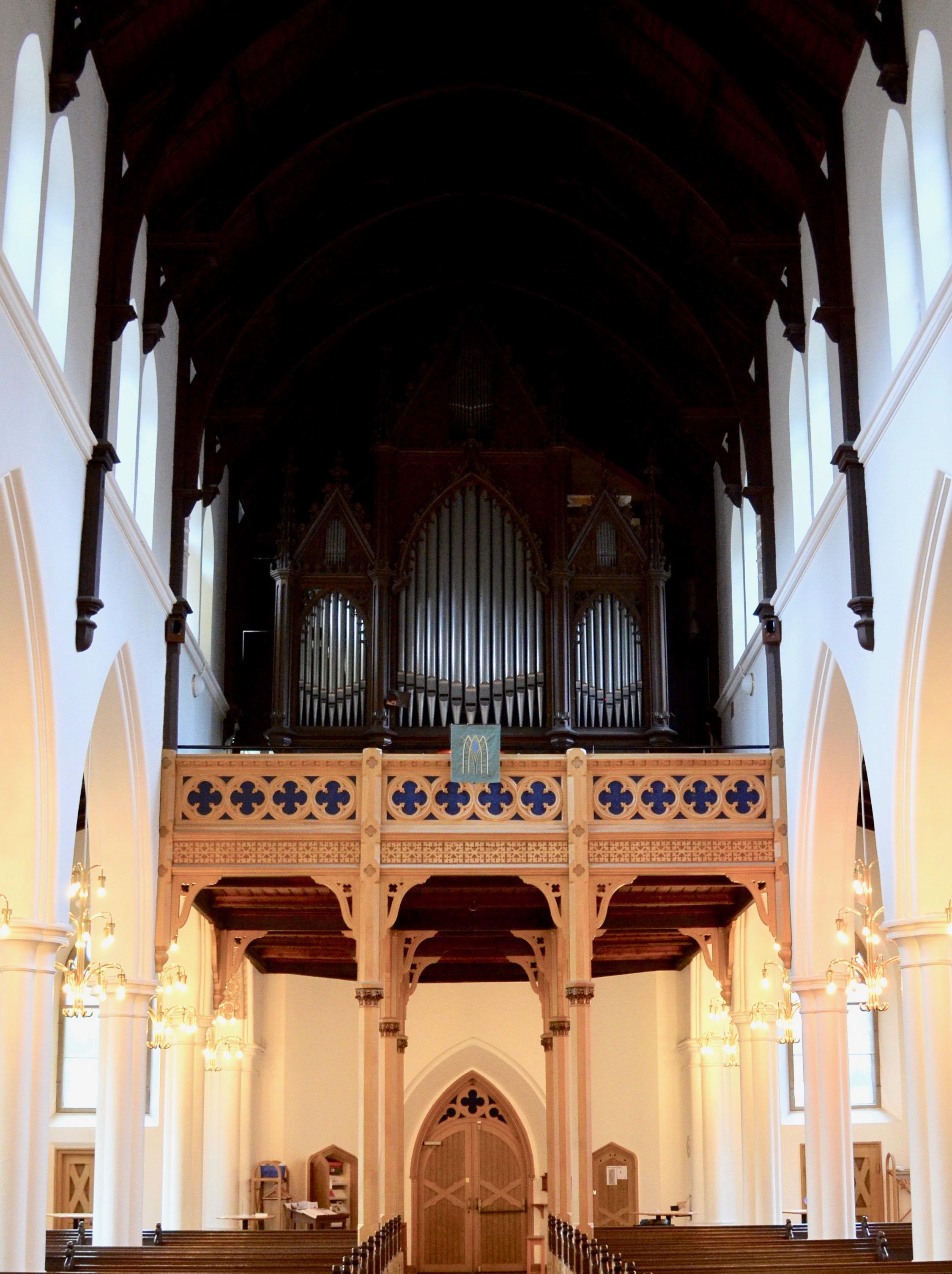 1861 Marcussen & Søn organ in Haga Church, Göteborg, Sweden.