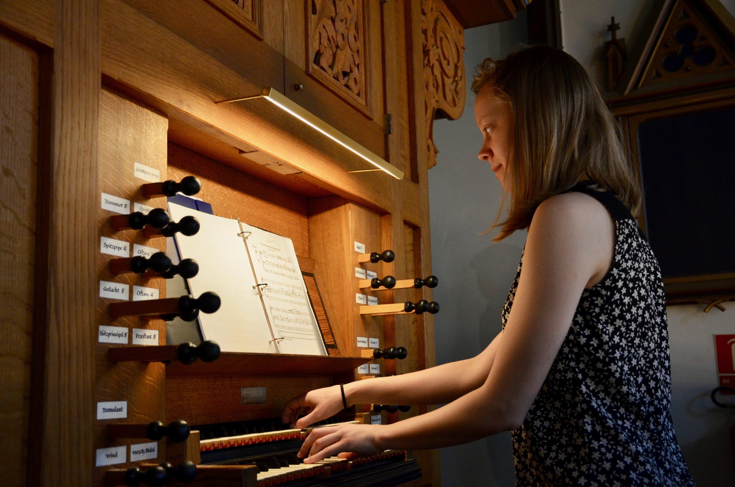 Laura Gullett plays the 1992 Brombaugh organ, Haga Church, Göteborg, Sweden.