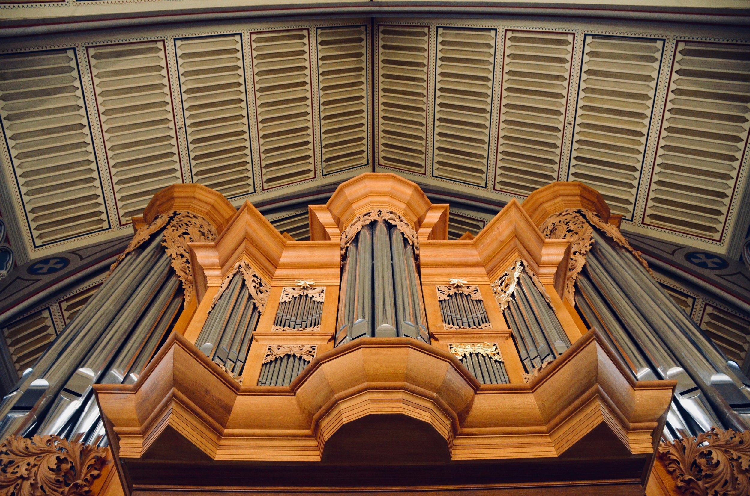 2000 GoART North German Baroque Research Organ in Örgryte New Church, Göteborg, Sweden.
