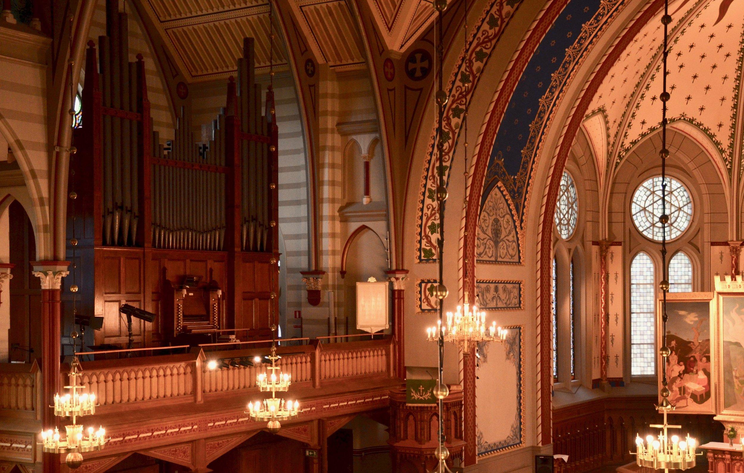1871 Willis Organ in Örgryte New Church, Göteborg, Sweden.