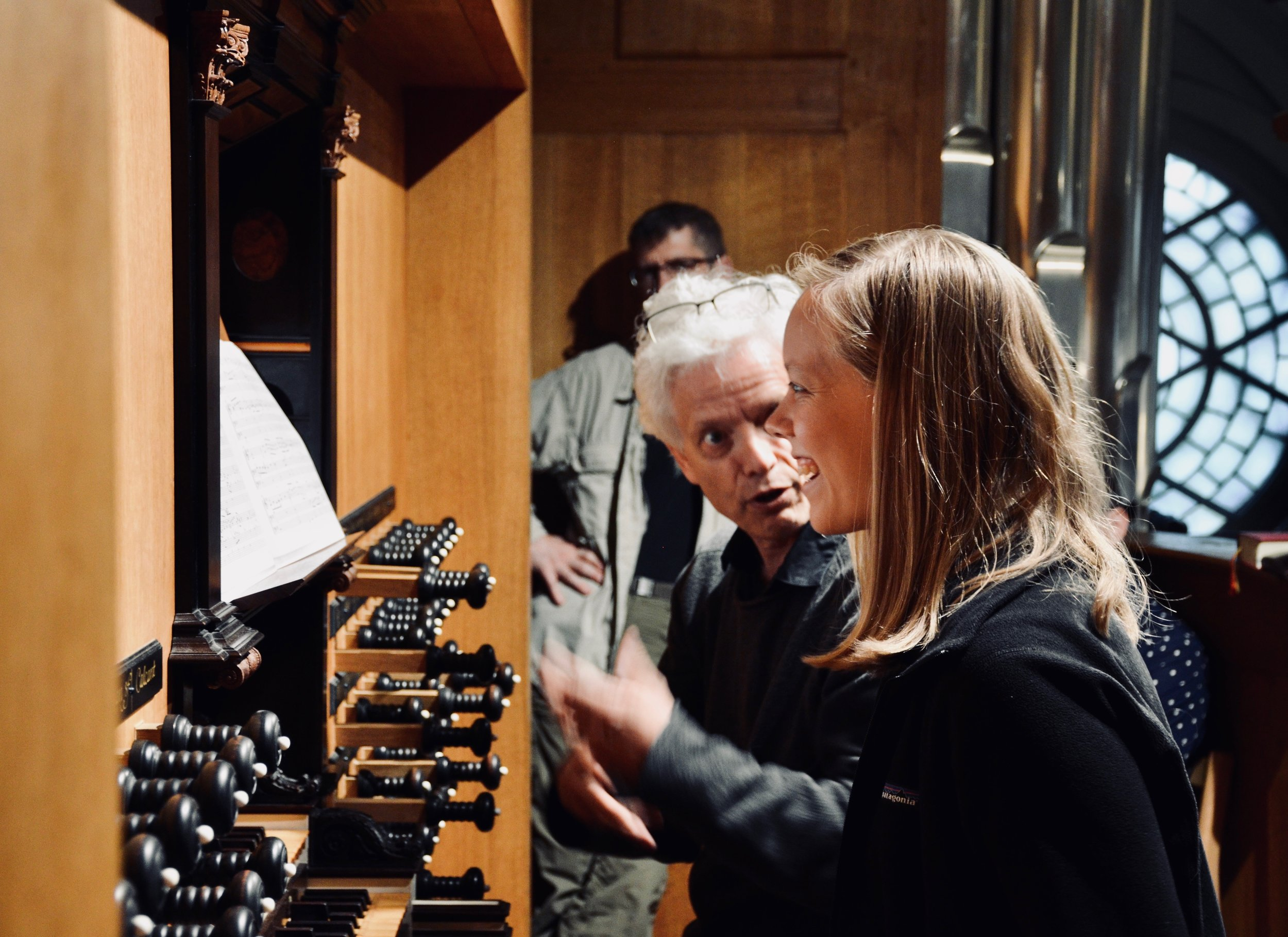 Hans Davidsson coaches Laura Gullett on the 2000 GoART North German Baroque Research Organ in Örgryte New Church, Göteborg, Sweden.