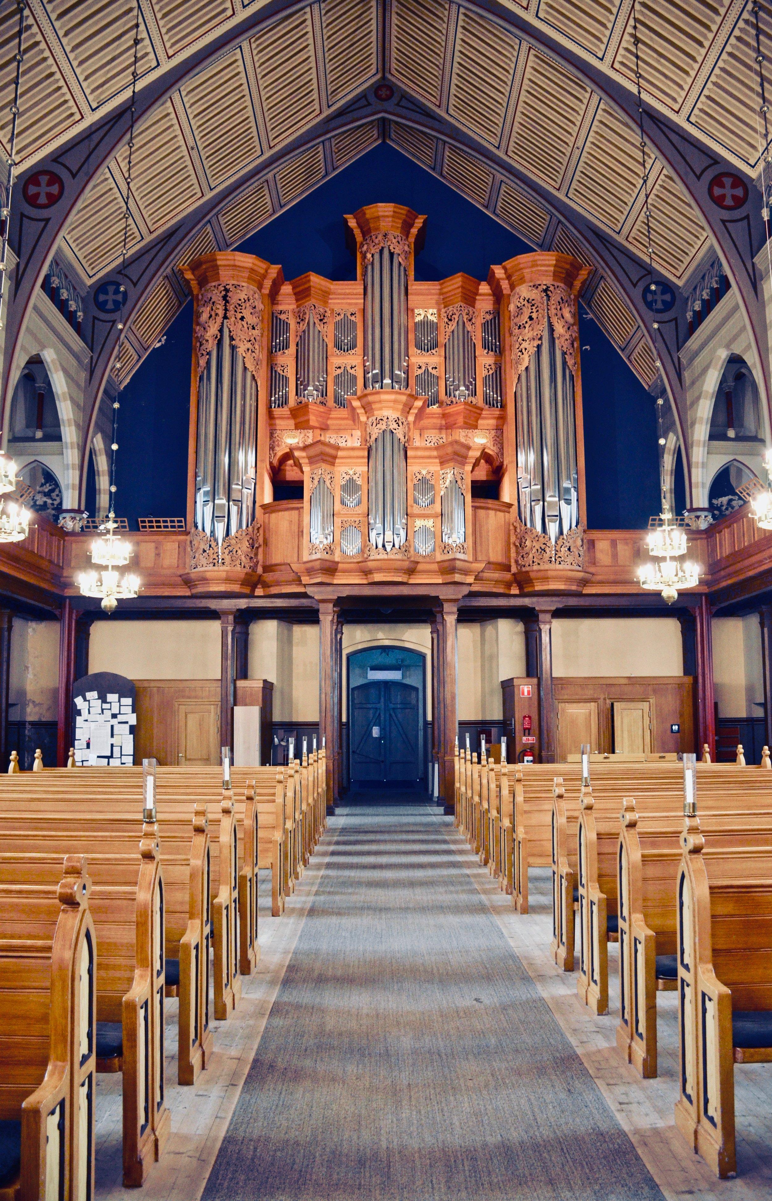 The 2000 GoART research organ in Örgryte New Church, Göteborg, Sweden.