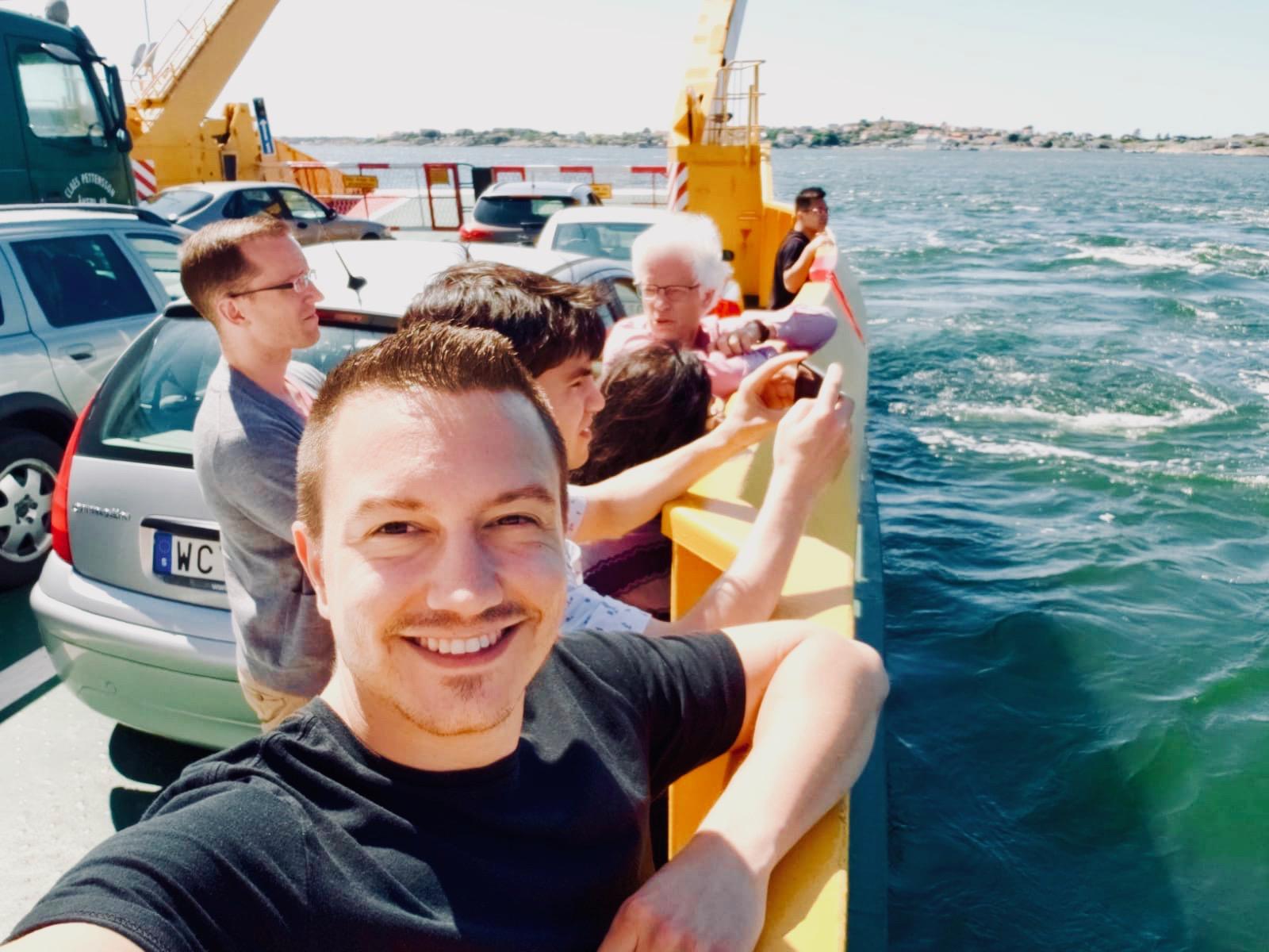 Corey De Tar and members of Boston Organ Studio en route to Björkö, Sweden.