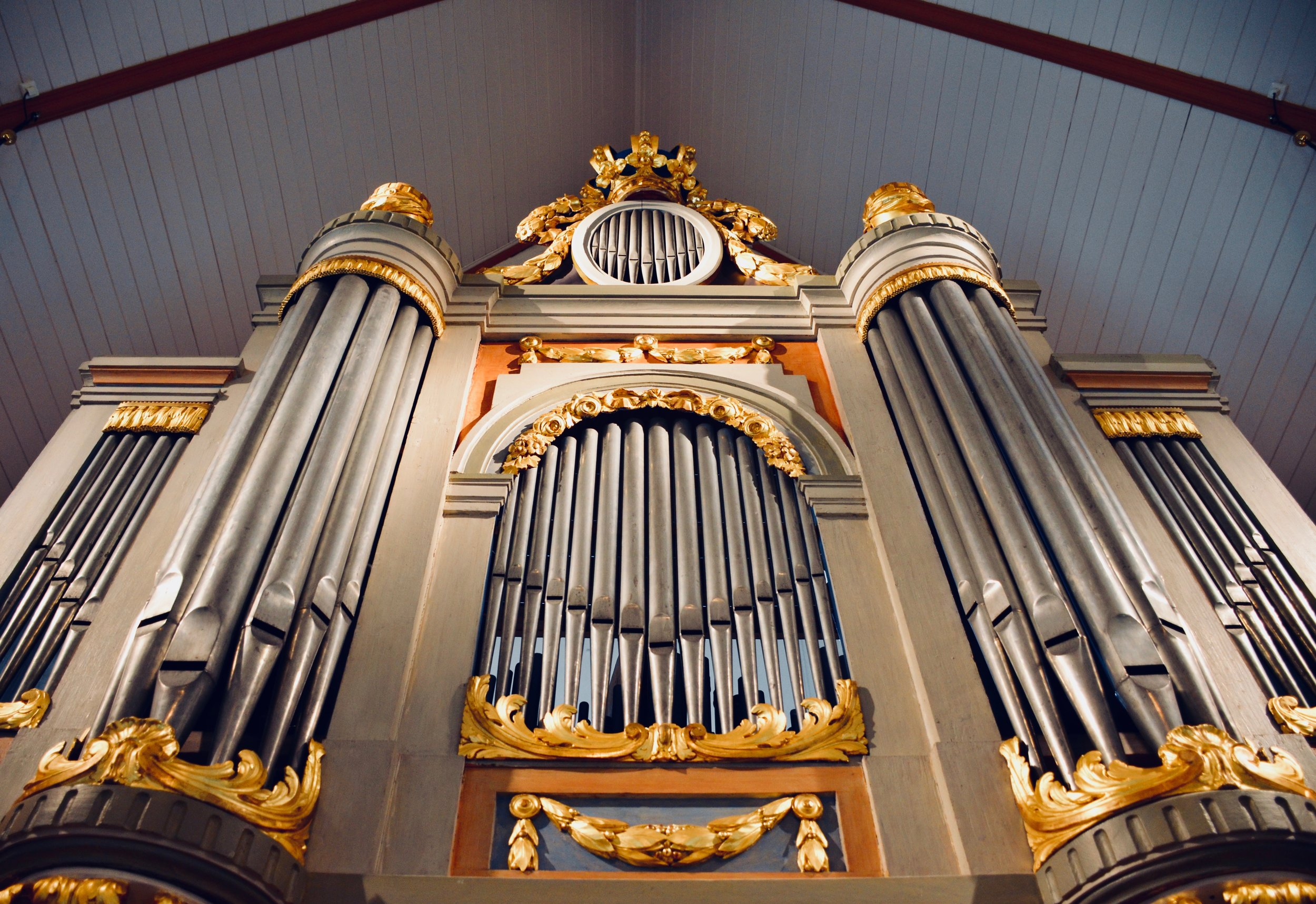1783 Schiörlin organ in Jonsered, Sweden.