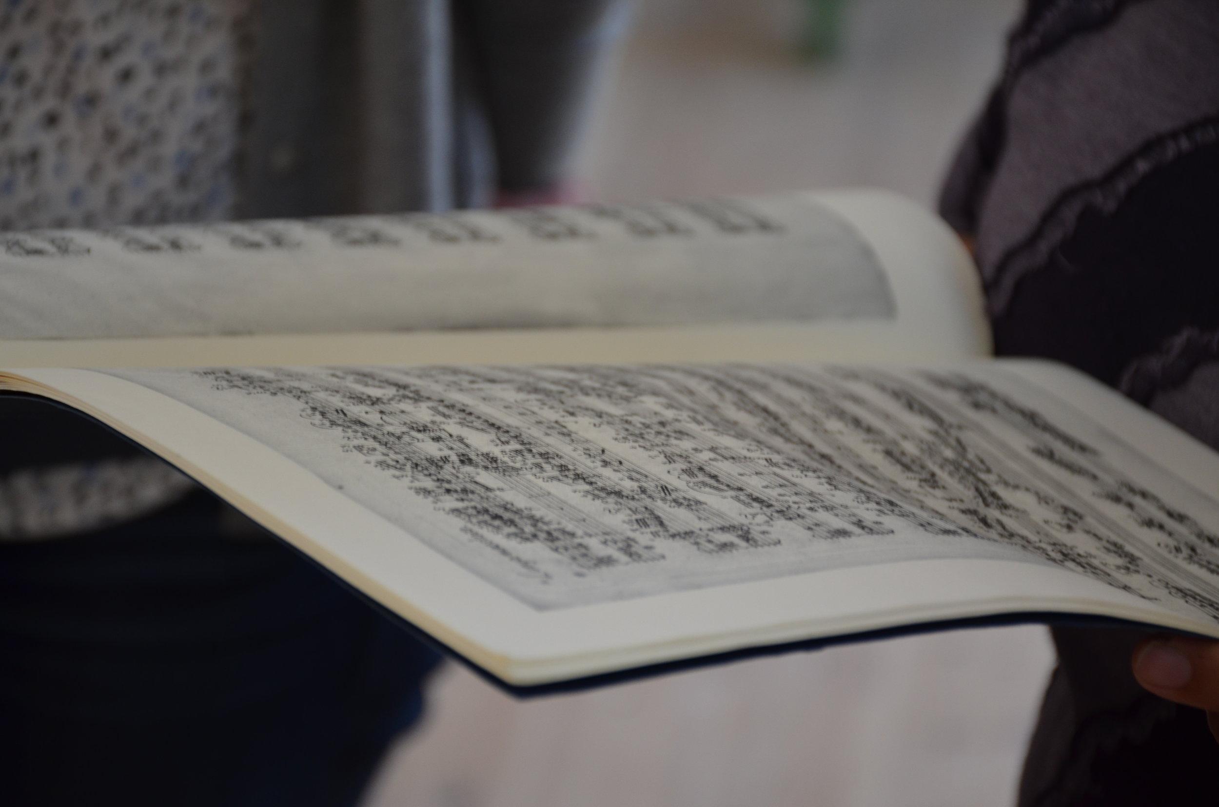 Manuscript facsimile of C.P.E. Bach.