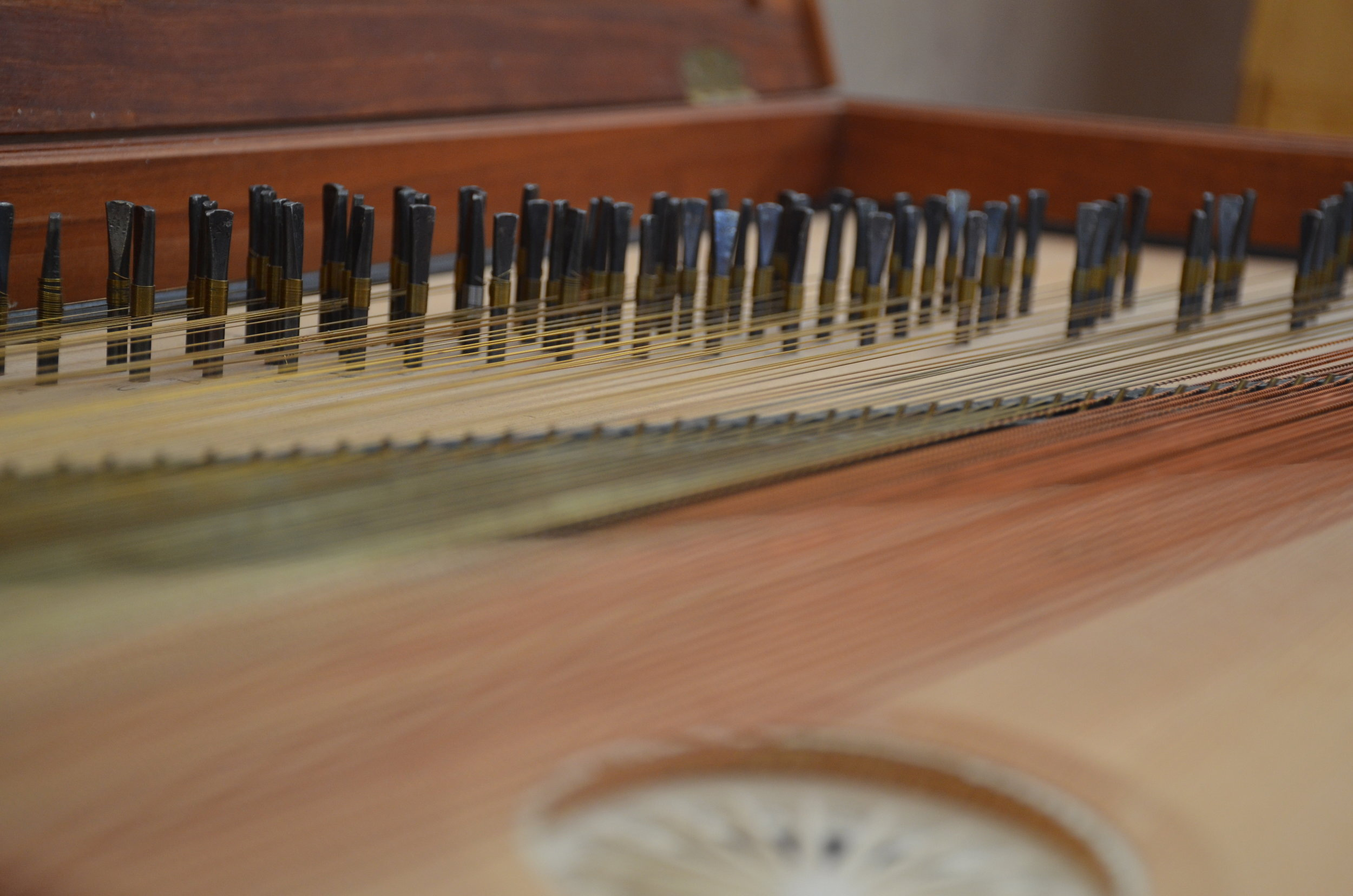 Detail of the clavichord.