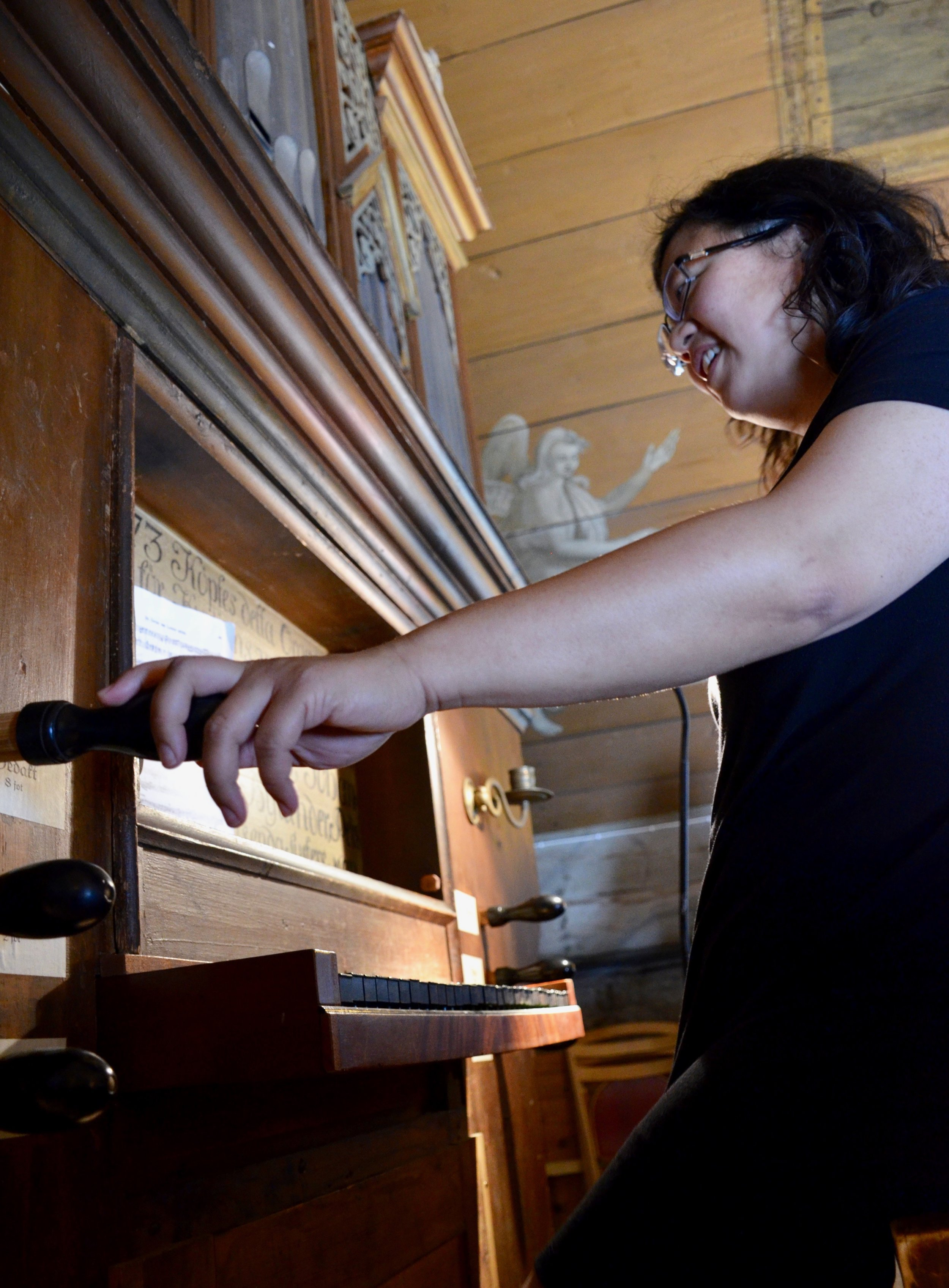 Jennifer Hsiao plays the historic organ in the 1652 chapel, Kulturen, Lund, Sweden.