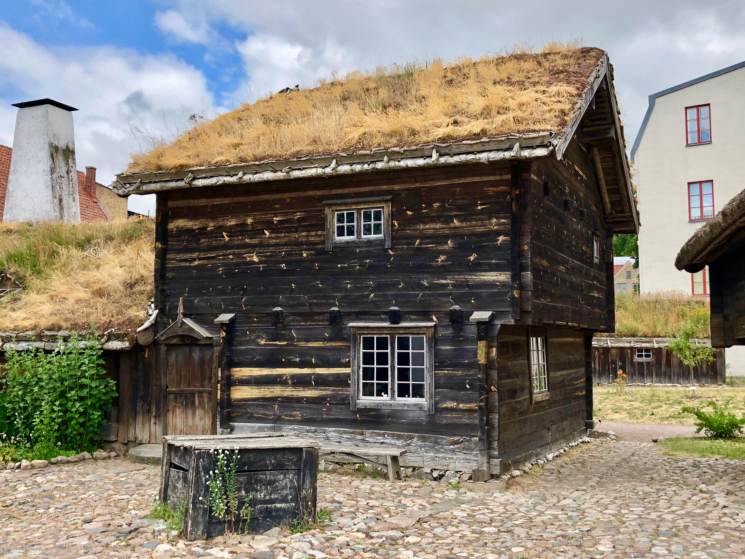 A historic Swedish home, as reconstructed in Kulturen, Lund.
