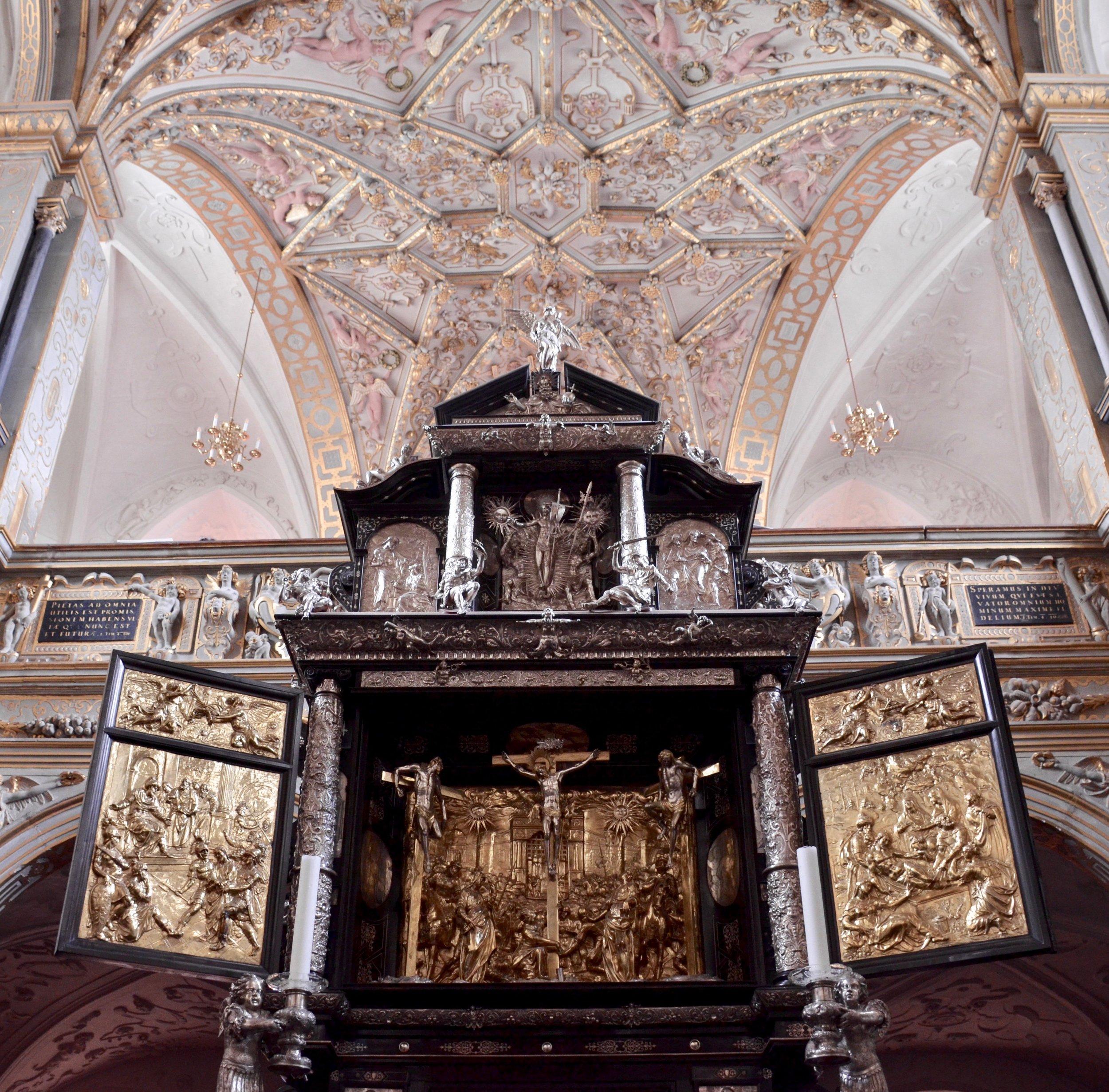Altar, Chapel, Frederiksborg Castle, Hillerød, Denmark.