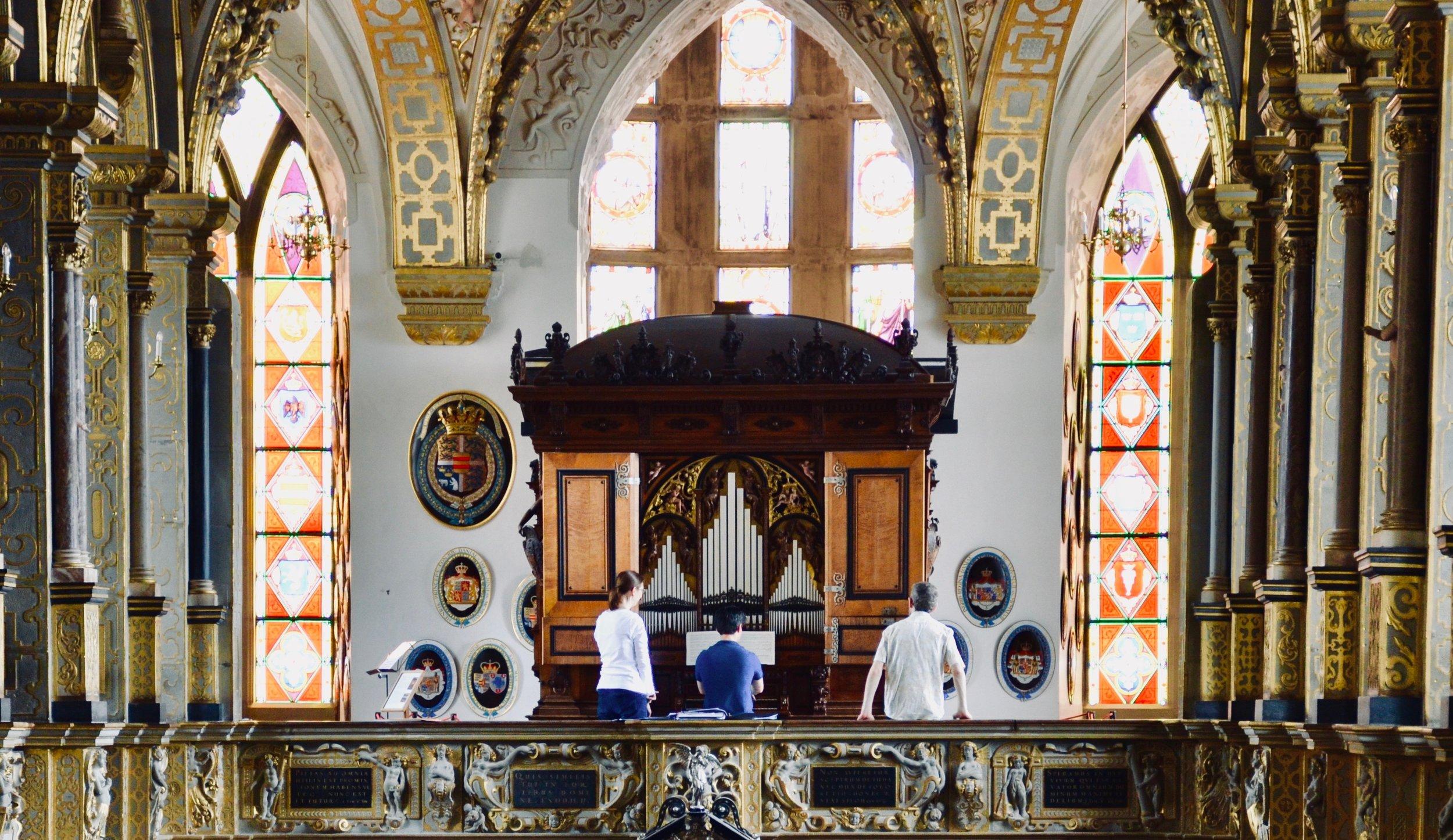 1610 Compenius organ, Frederiksborg Castle, Hillerød, Denmark.