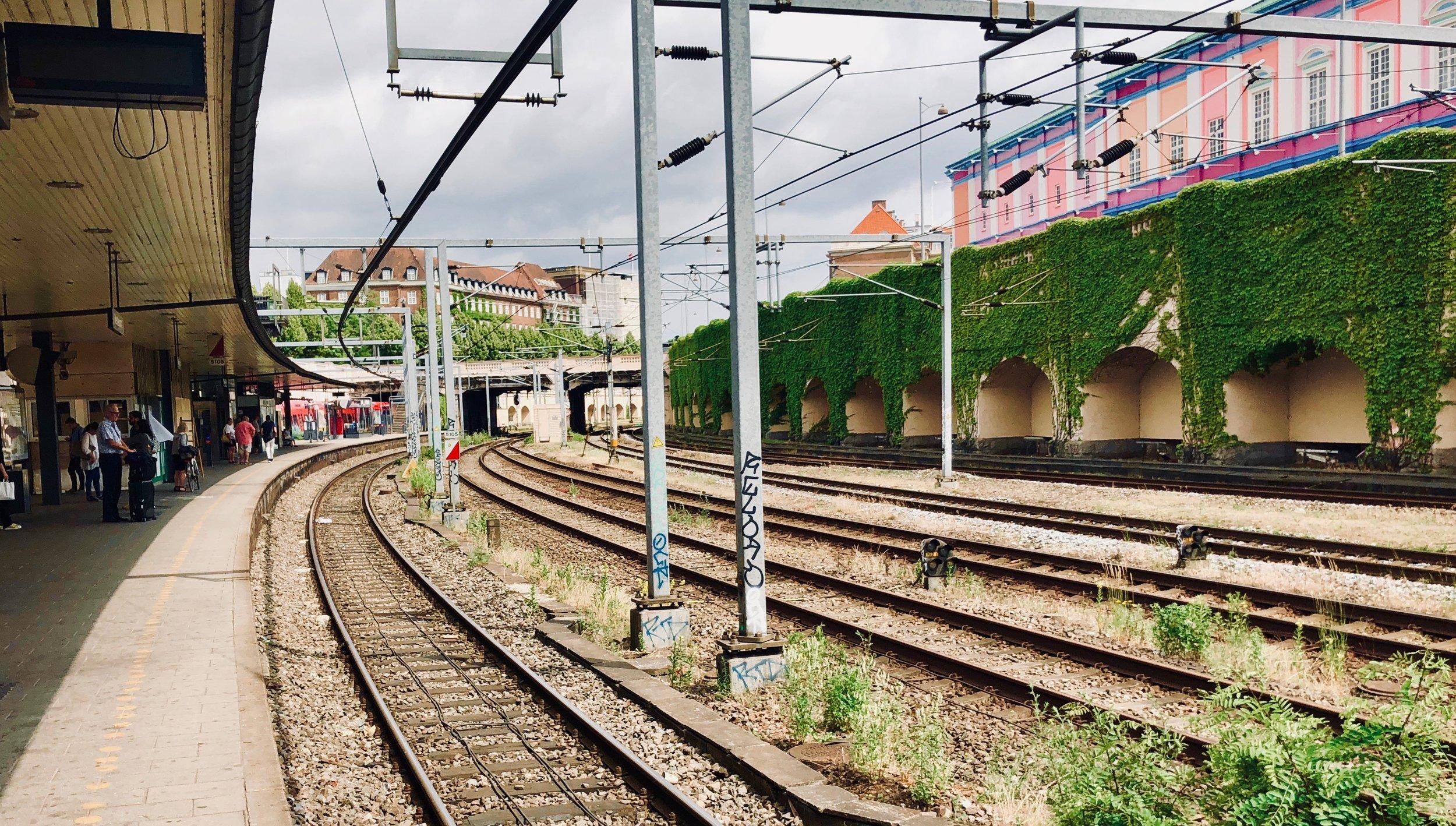 Boarding the train to Hillerød, Denmark.