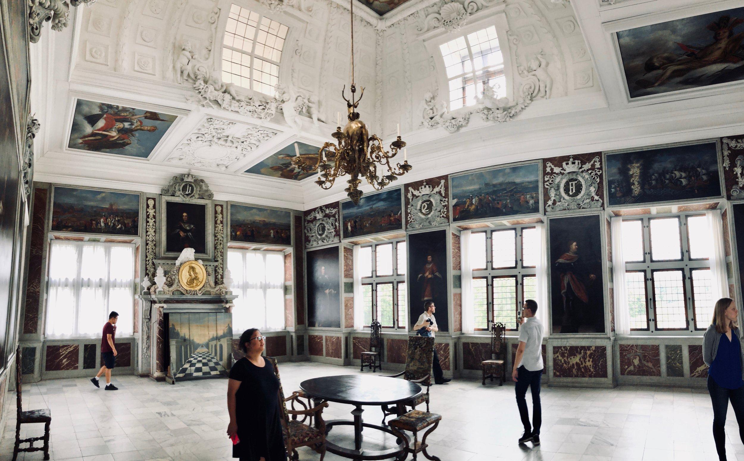 King's reception room, Frederiksborg Castle, Hillerød, Denmark.