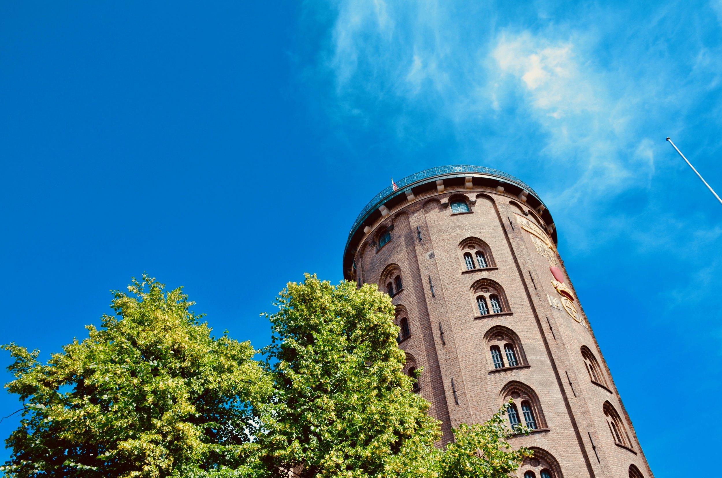 The tower of Trinitatis Kirke, Copenhagen.