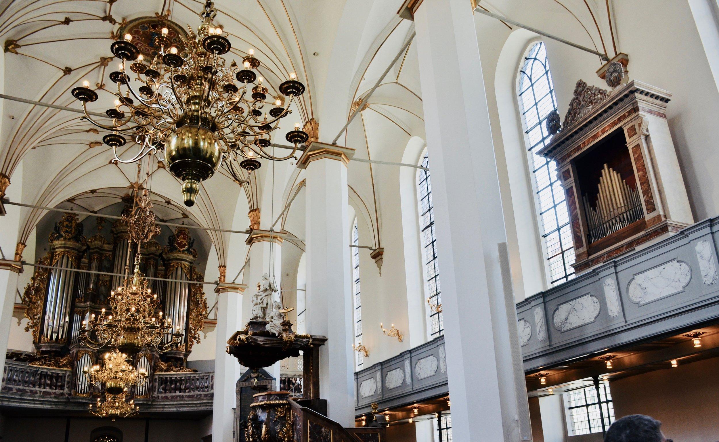 The organs of Trinitatis Kirke, Copenhagen.