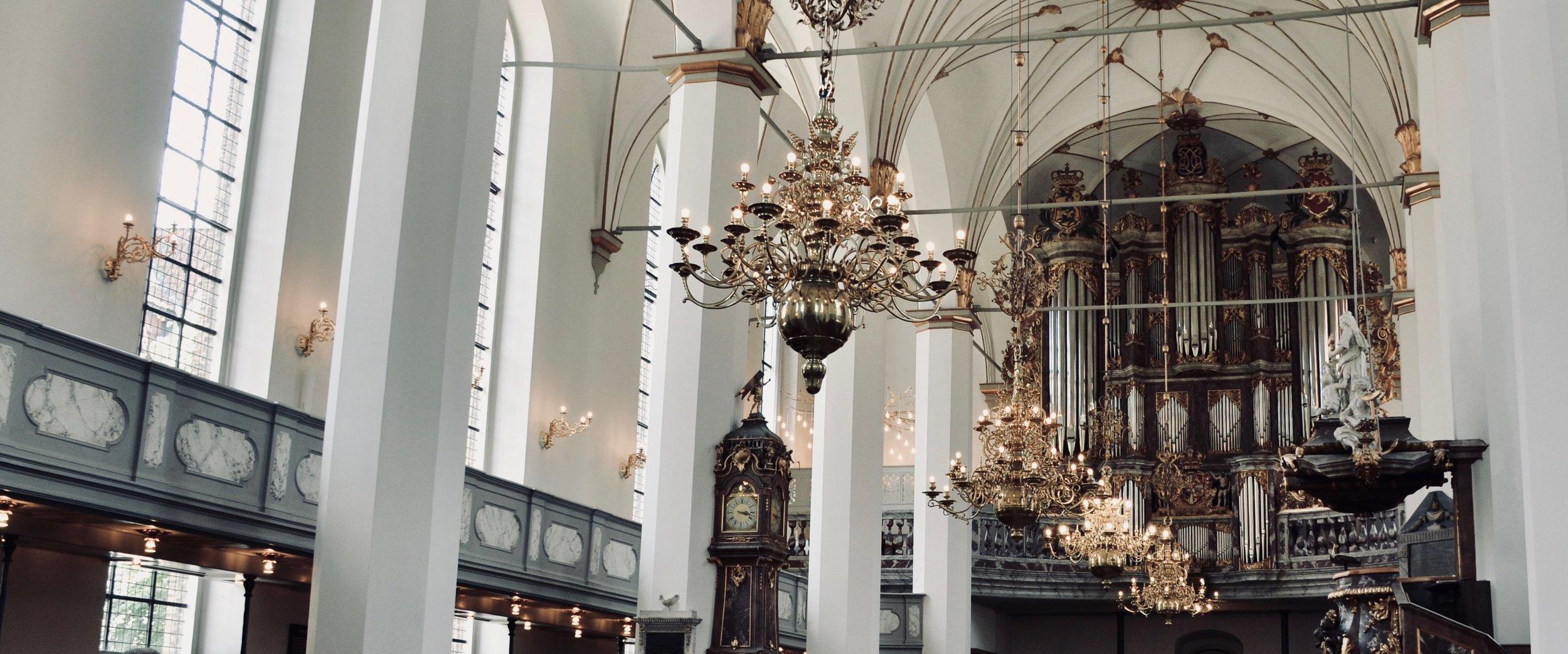 The gallery organ, Trinitatis Kirke, Copenhagen.