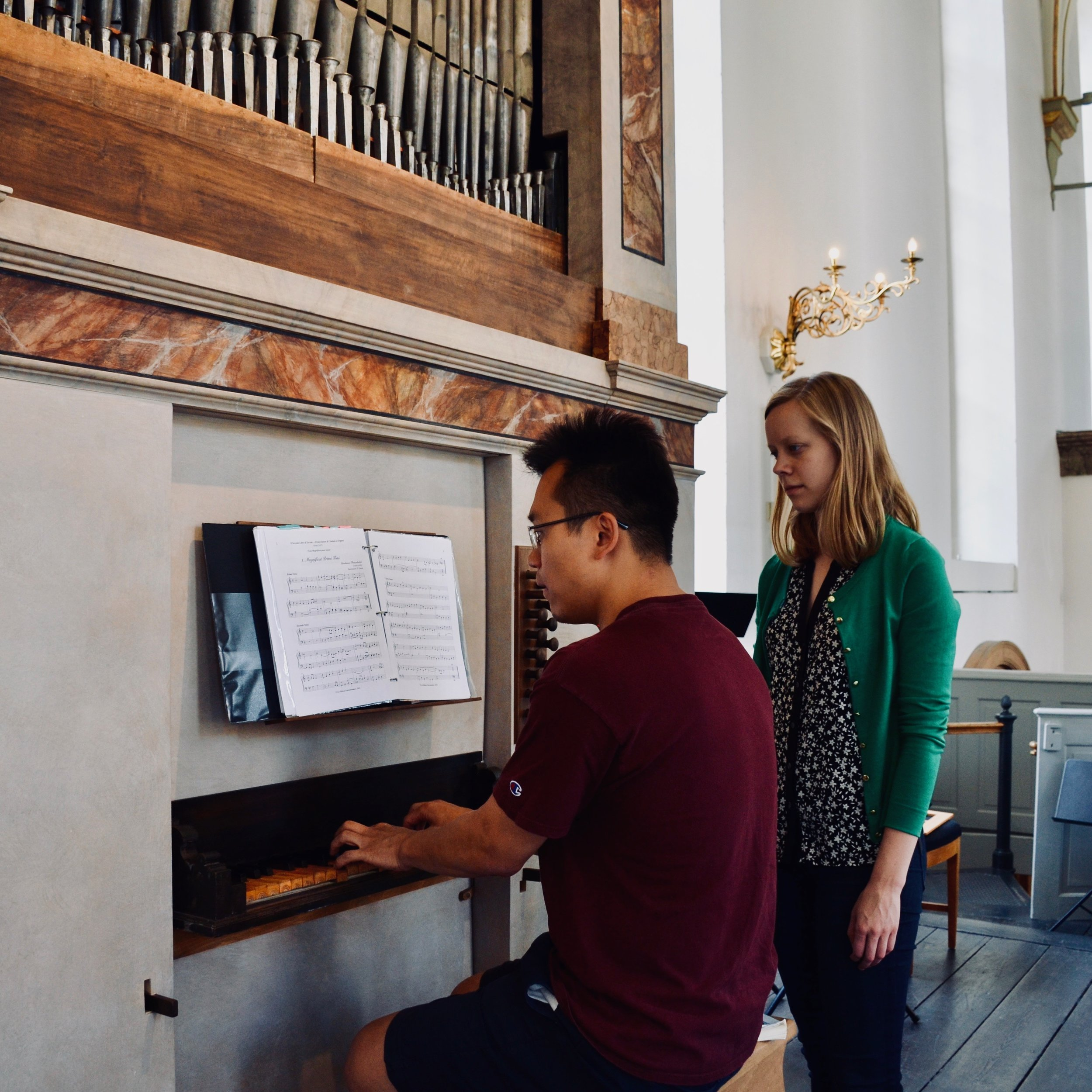 Adrian Cho plays the the Italian baroque organ in Trinitatis Kirke, Copenhagen.