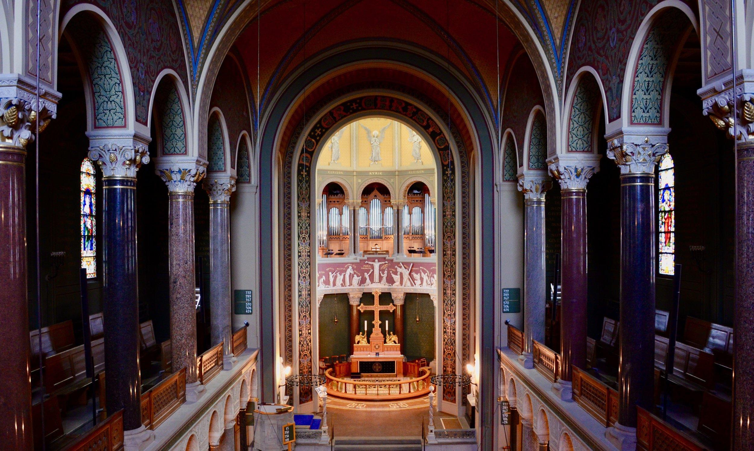 The 1890 Cavaillé-Coll organ in Jesuskirke, Copenhagen.