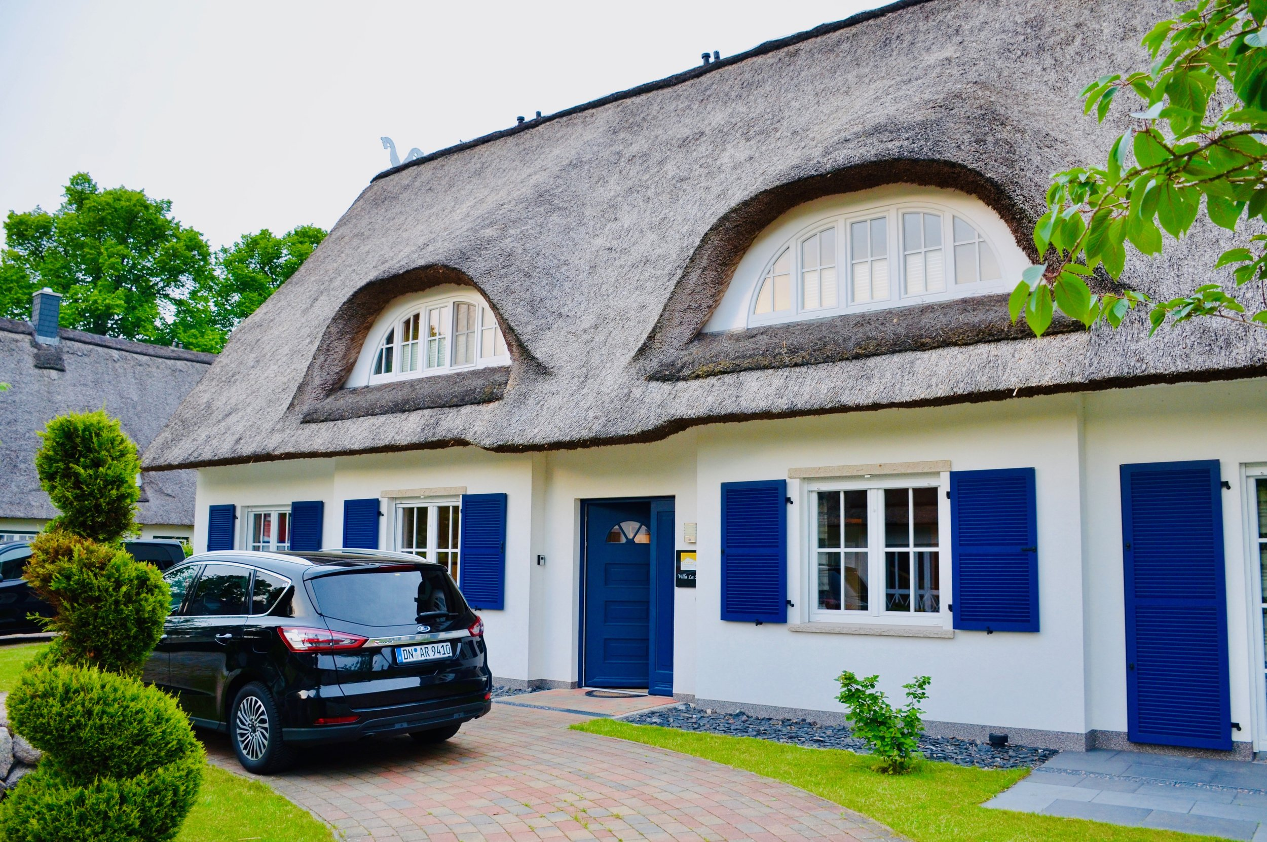 Our thatched-roof house in Germany!