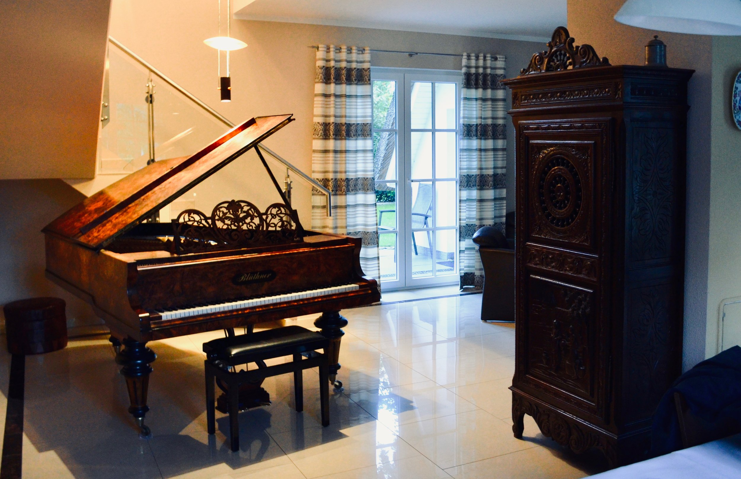 …and the grand piano!…