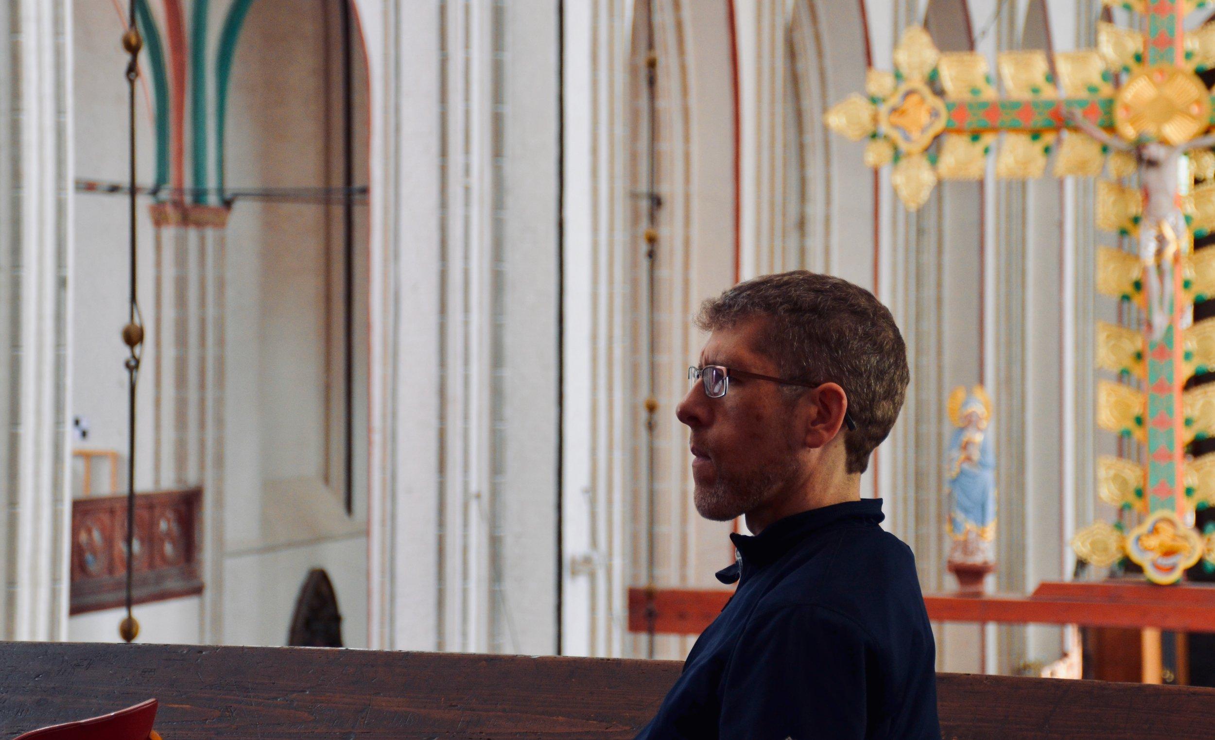 Chris Porter listens to the 1871 Ladegast Organ, Schwerin Dom. Boston Organ Studio.