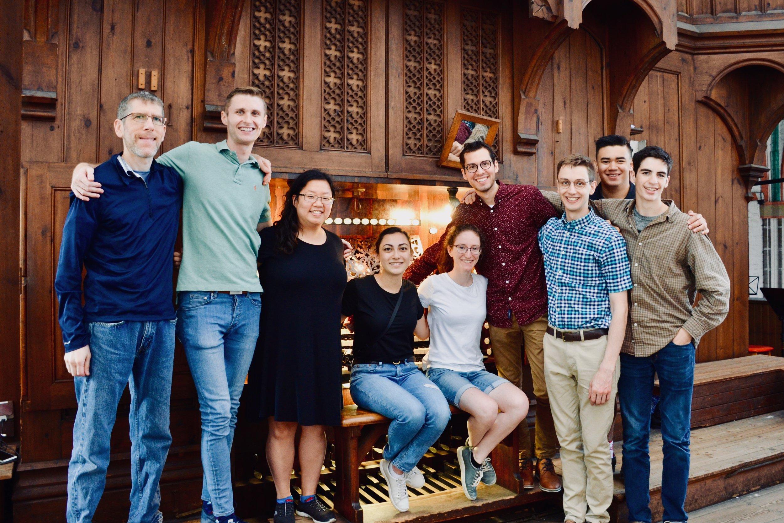 Members of the group, 1871 Ladegast Organ, Schwerin Dom. Boston Organ Studio.