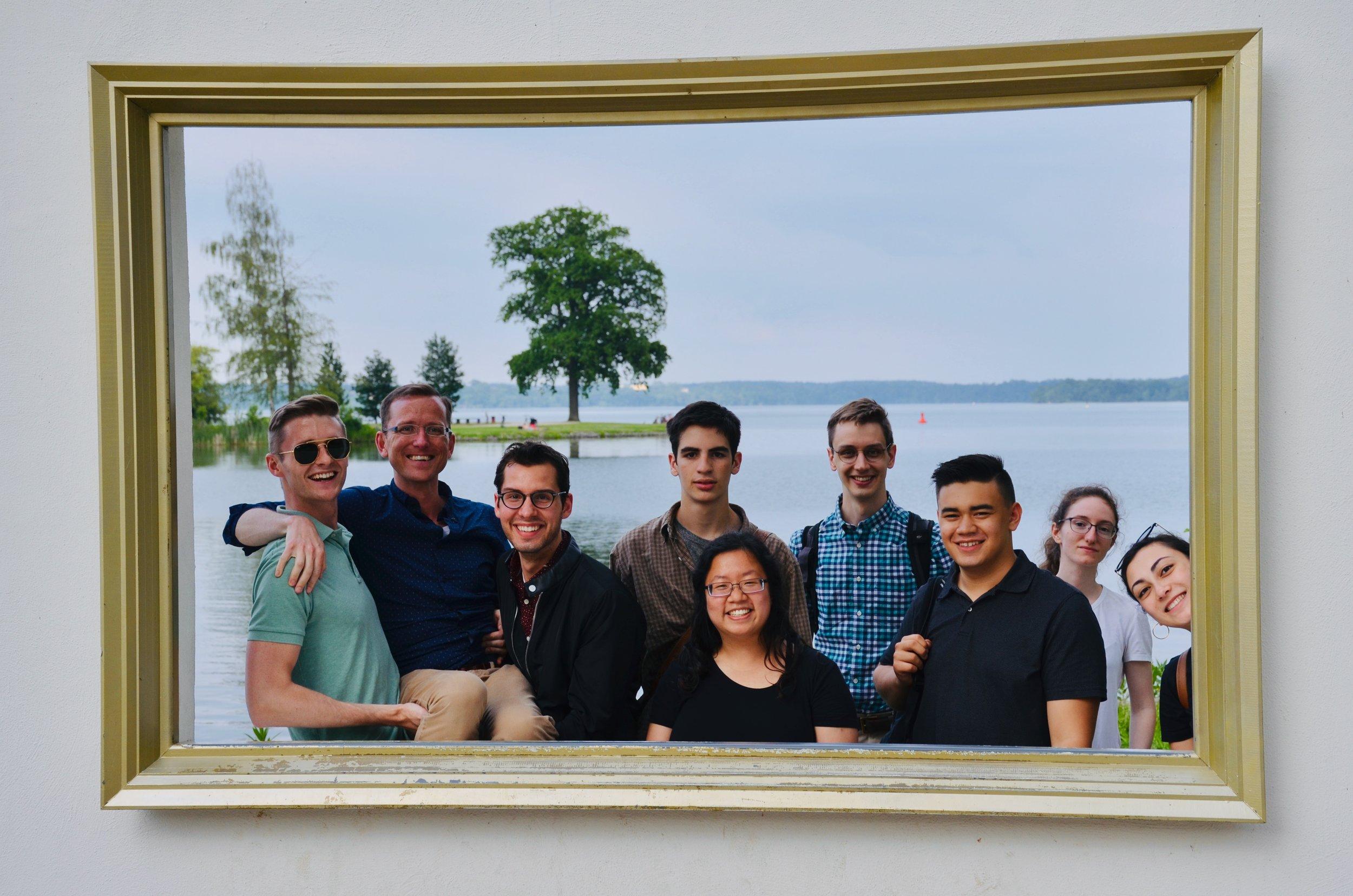 Members of Boston Organ Studio, at Schwerin Castle.