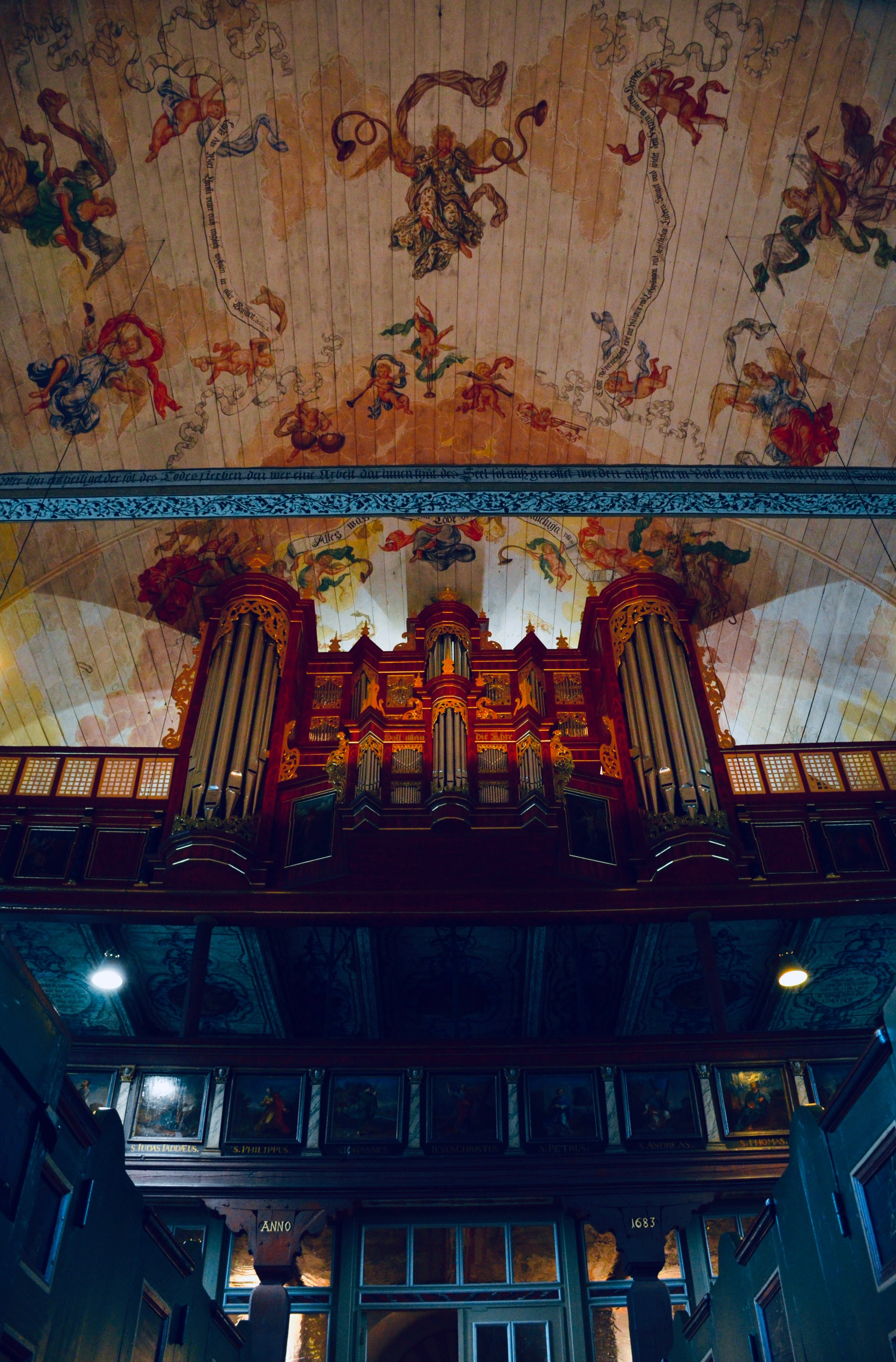 1688 Schnitger Organ, St. Pankratius, Neuenfelde, Germany. Boston Organ Studio.