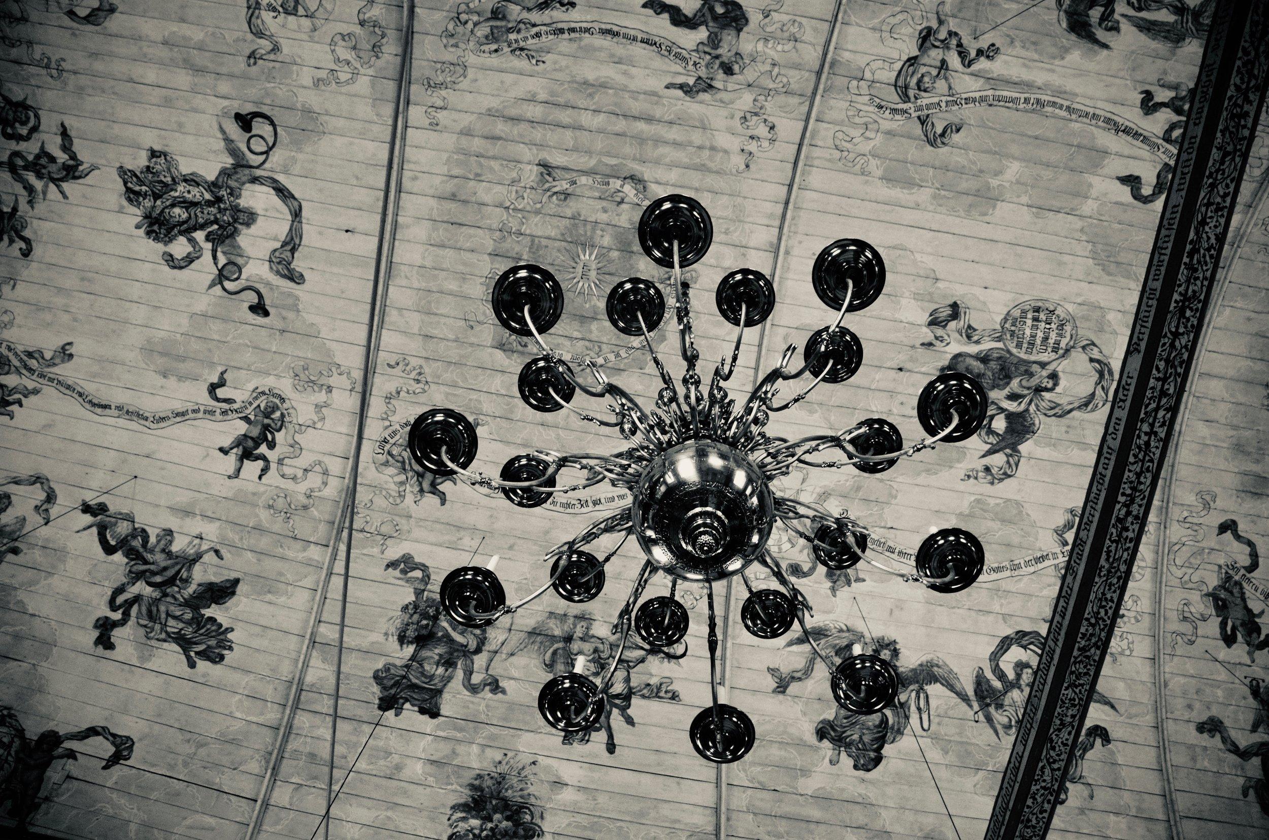 Ceiling detail, St. Pankratius, Neuenfelde, Germany. Boston Organ Studio.