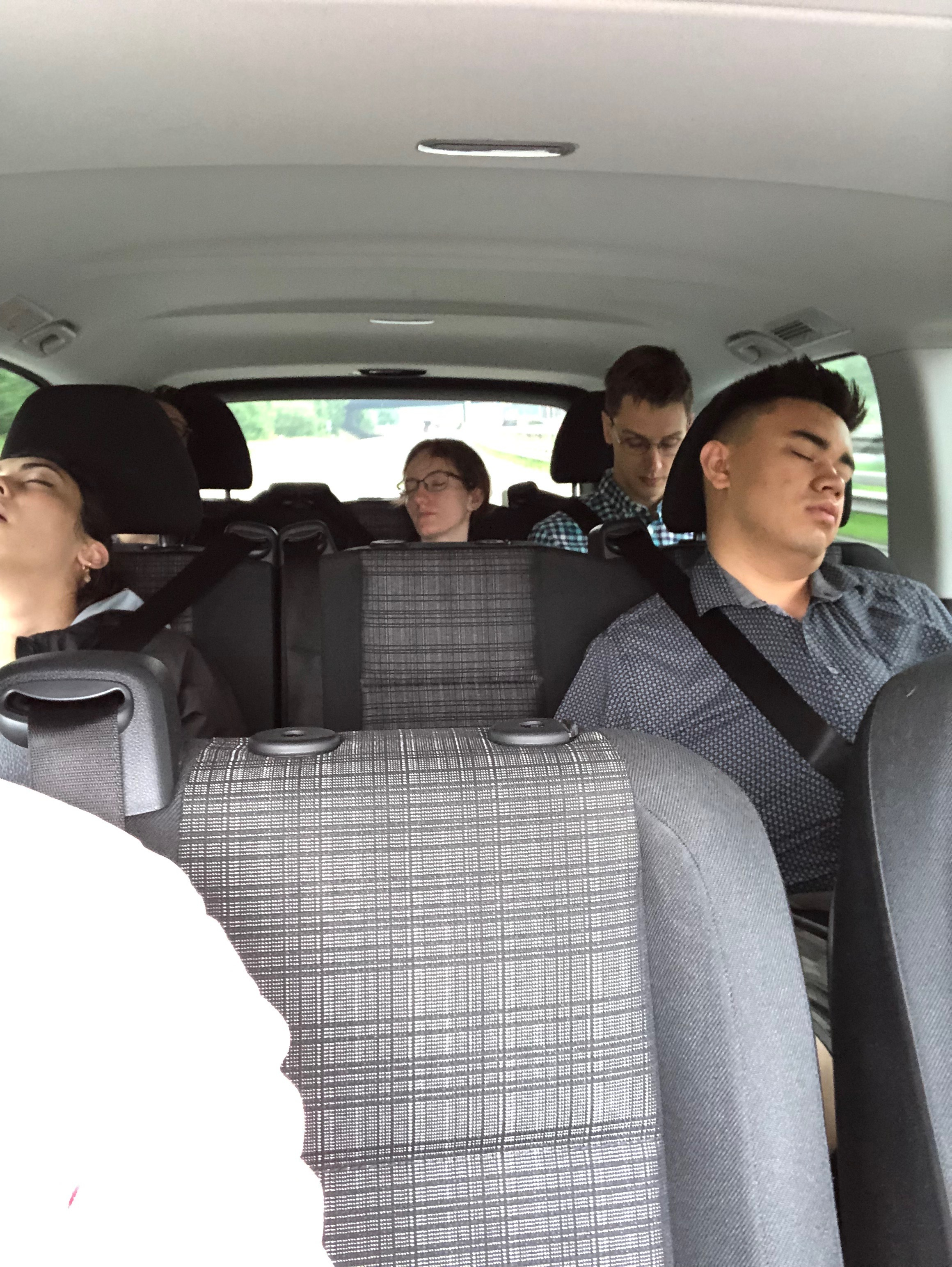 On the (more than) 2-hour drive, many of our group found time for a nap…!