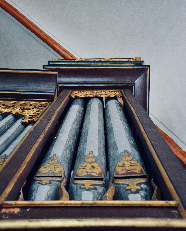 Pipework detail, 1637 Stellwagen Organ, St. Jakobi, Lübeck.
