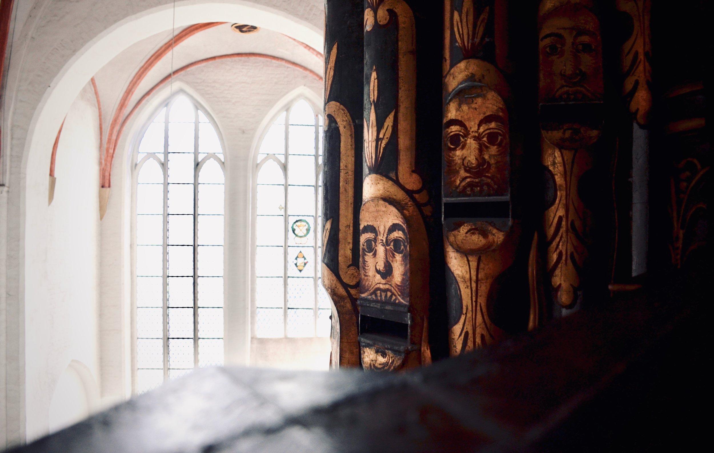 """Pipework detail, The West """"Große"""" Organ, St. Jakobi, Lübeck."""