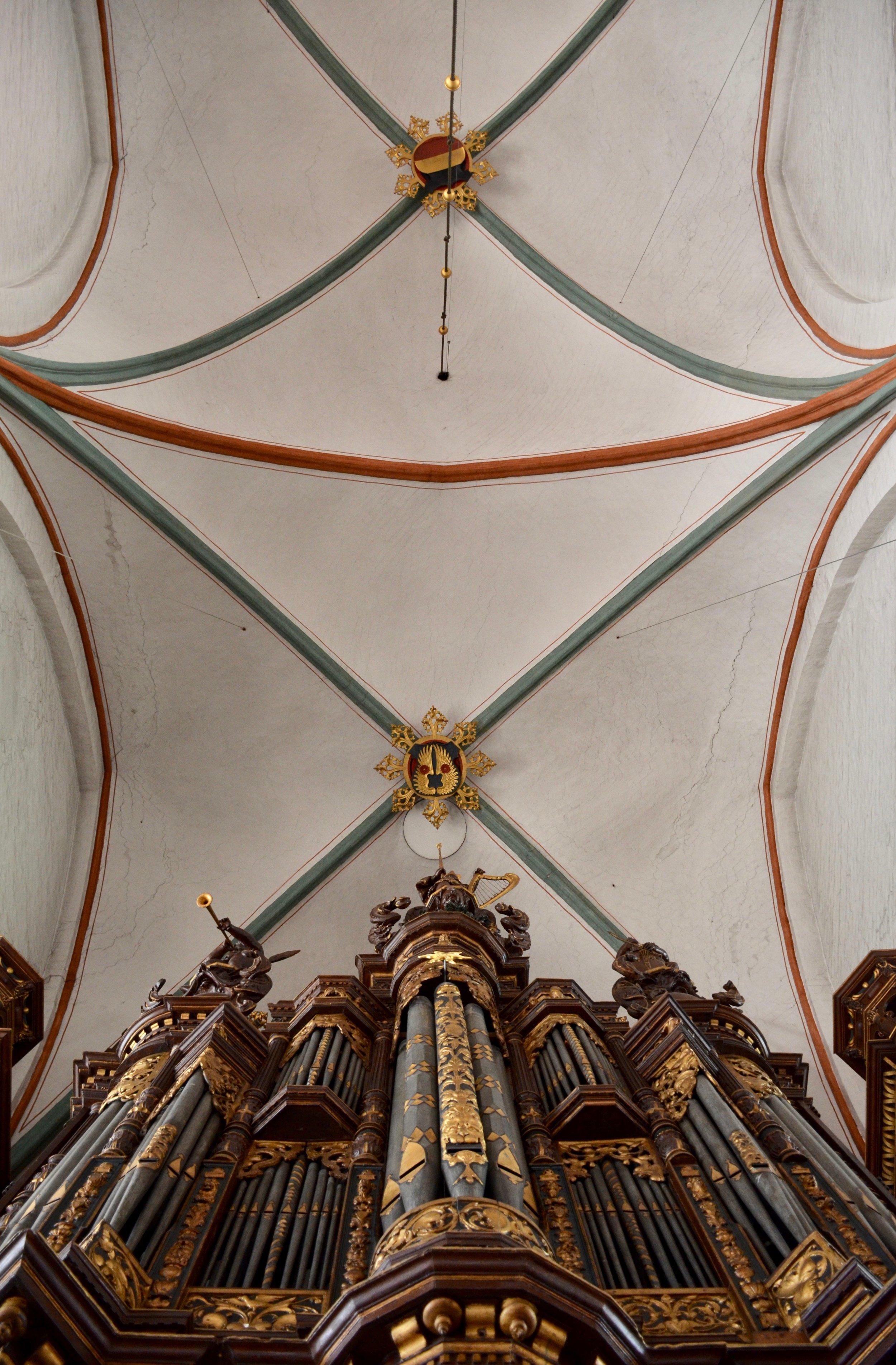 """The West """"Große"""" Organ, St. Jakobi, Lübeck."""