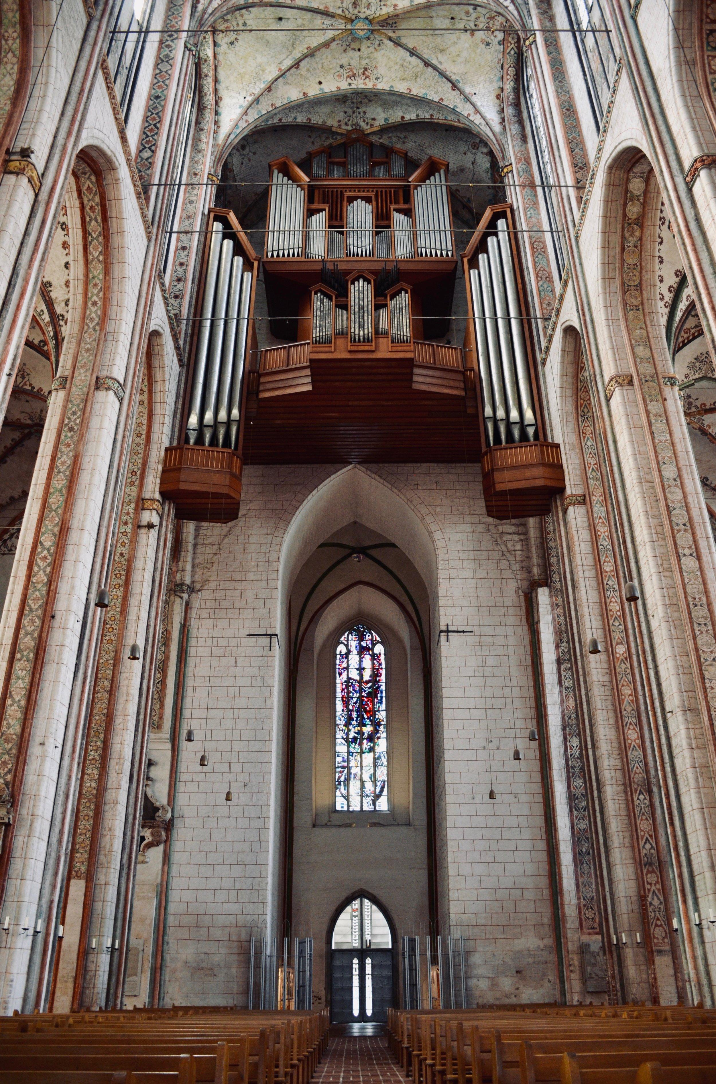1968 Kemper & Son organ, Marienkirche, Lübeck.