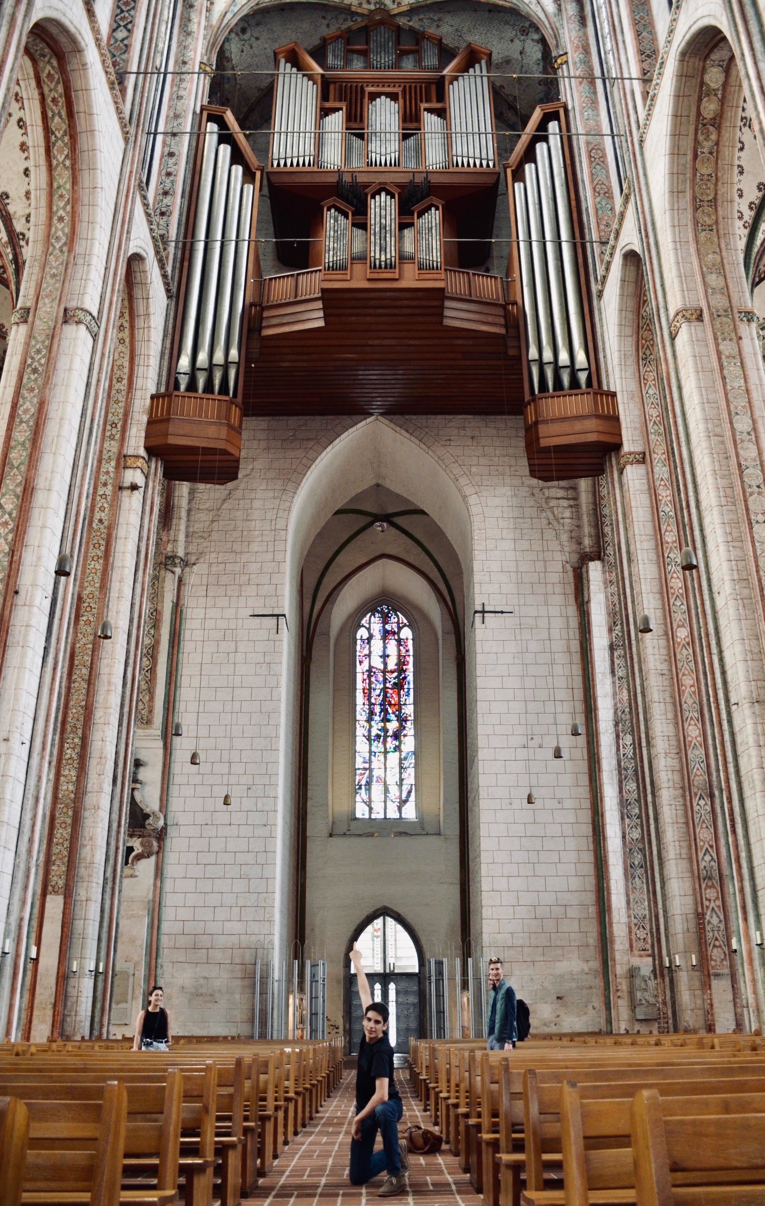 Alex Marin in Marienkirche, Lübeck.