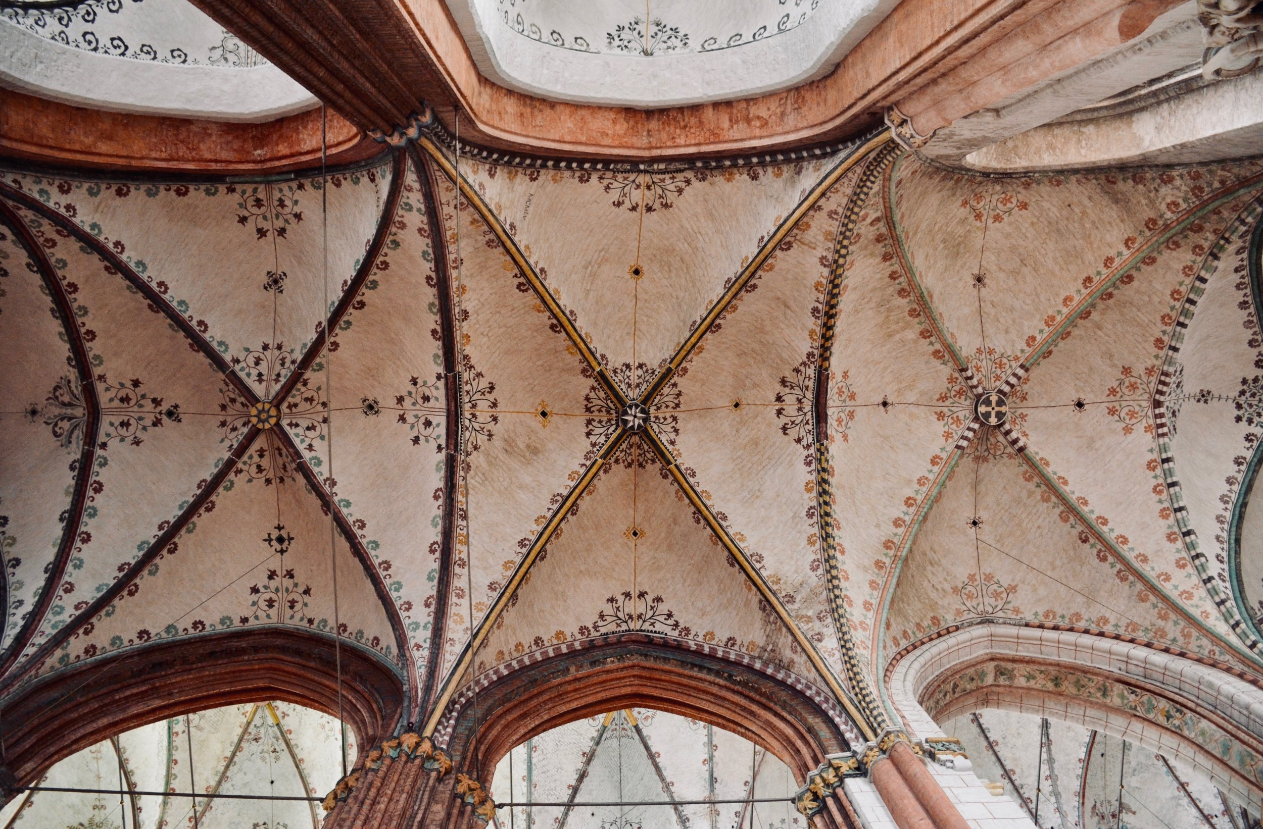 Ceiling detail, Marienkirche, Lübeck.