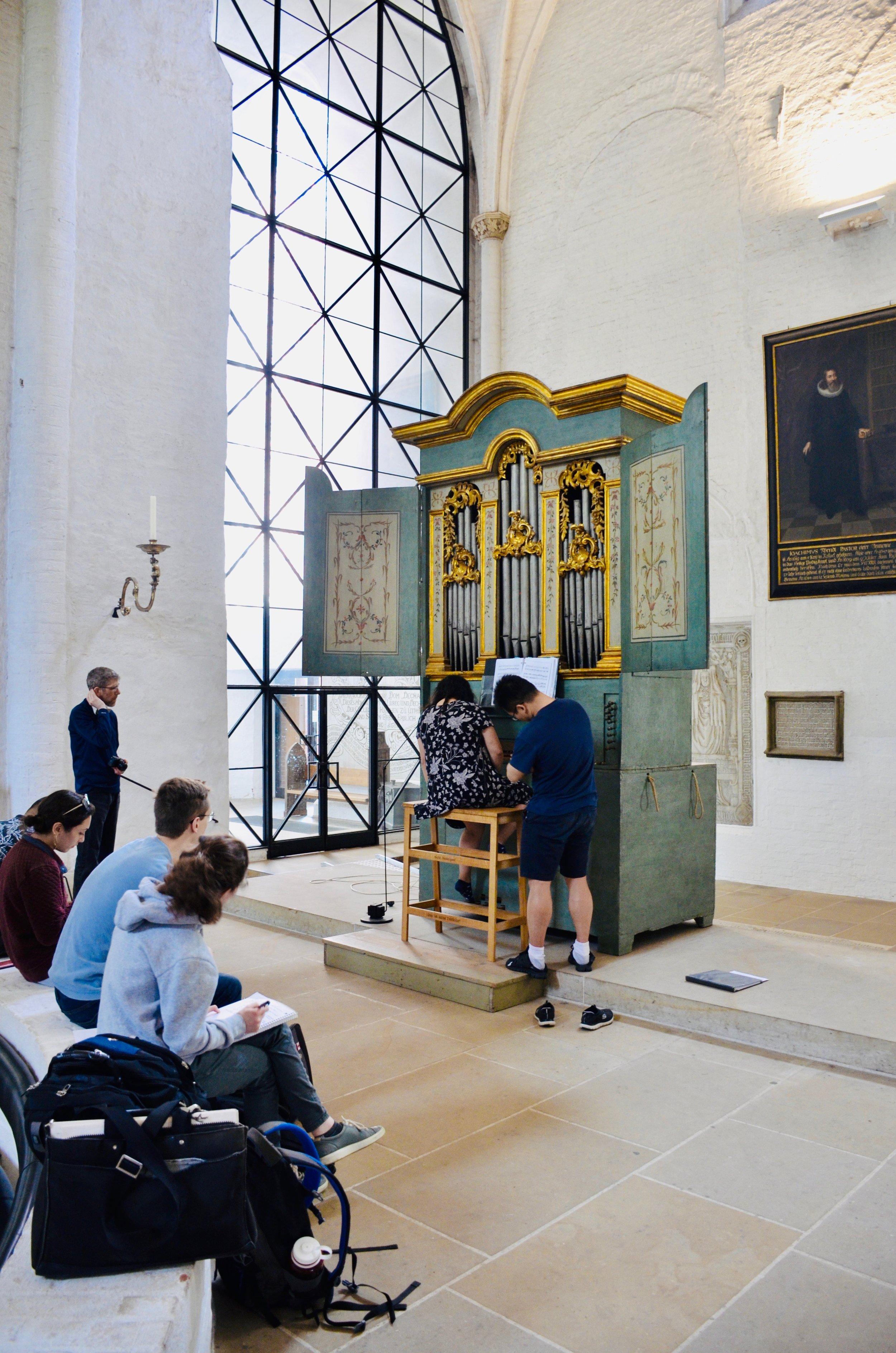 1777 Italian Baroque organ in Lübeck Dom.