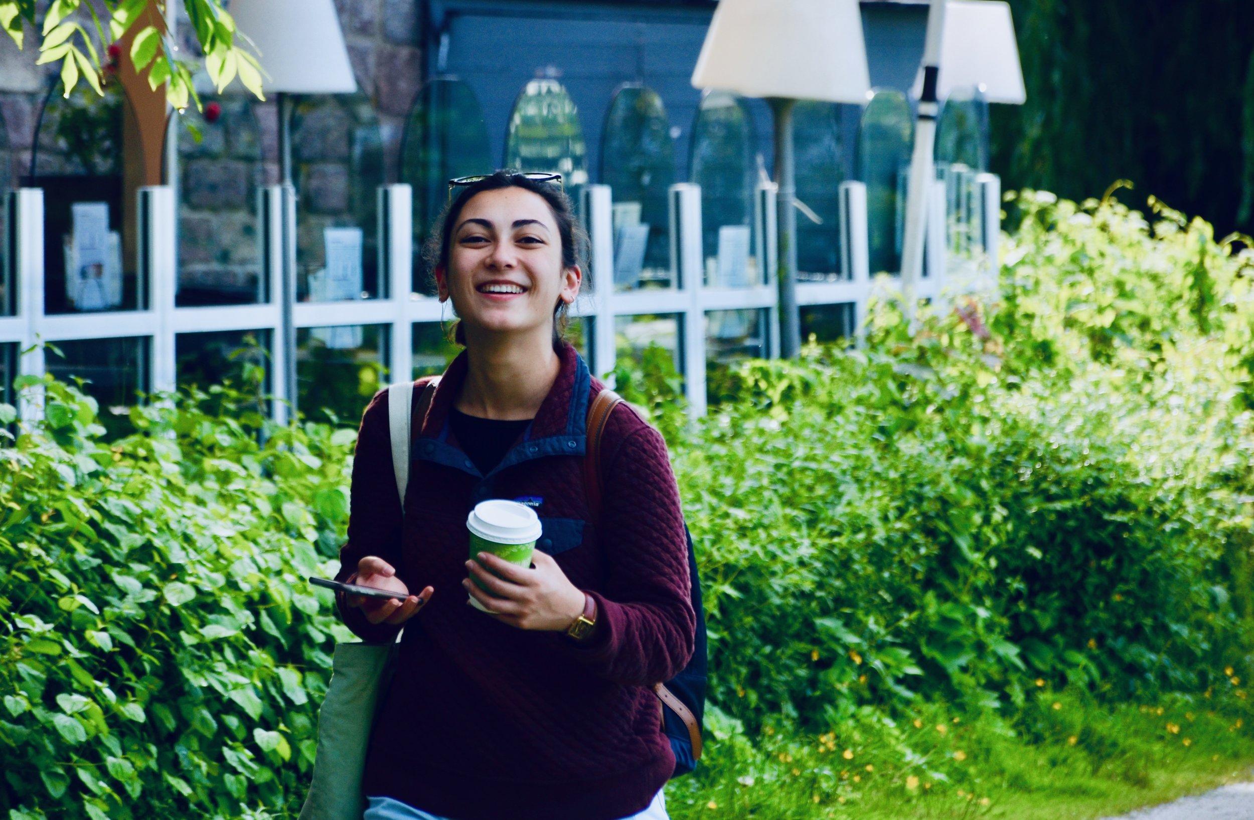 Meg Cutting enjoys a beautiful day in Lübeck.