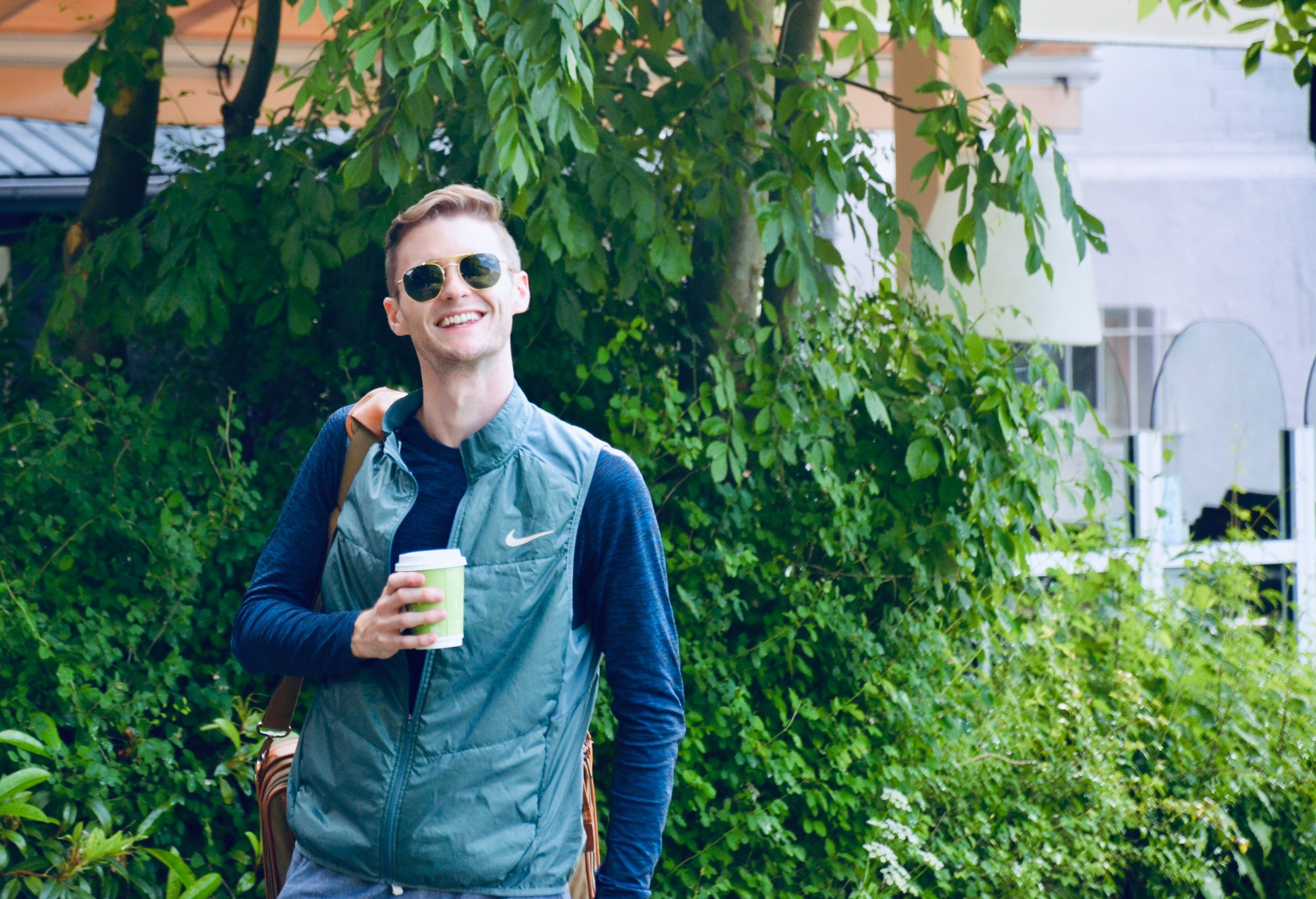 Evan Currie enjoys a beautiful day in Lübeck.