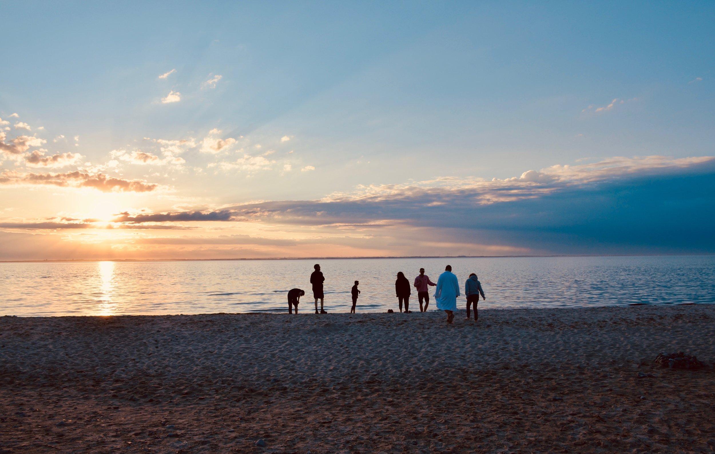 Members of Boston Organ Studio enjoy an evening along the Baltic Sea.