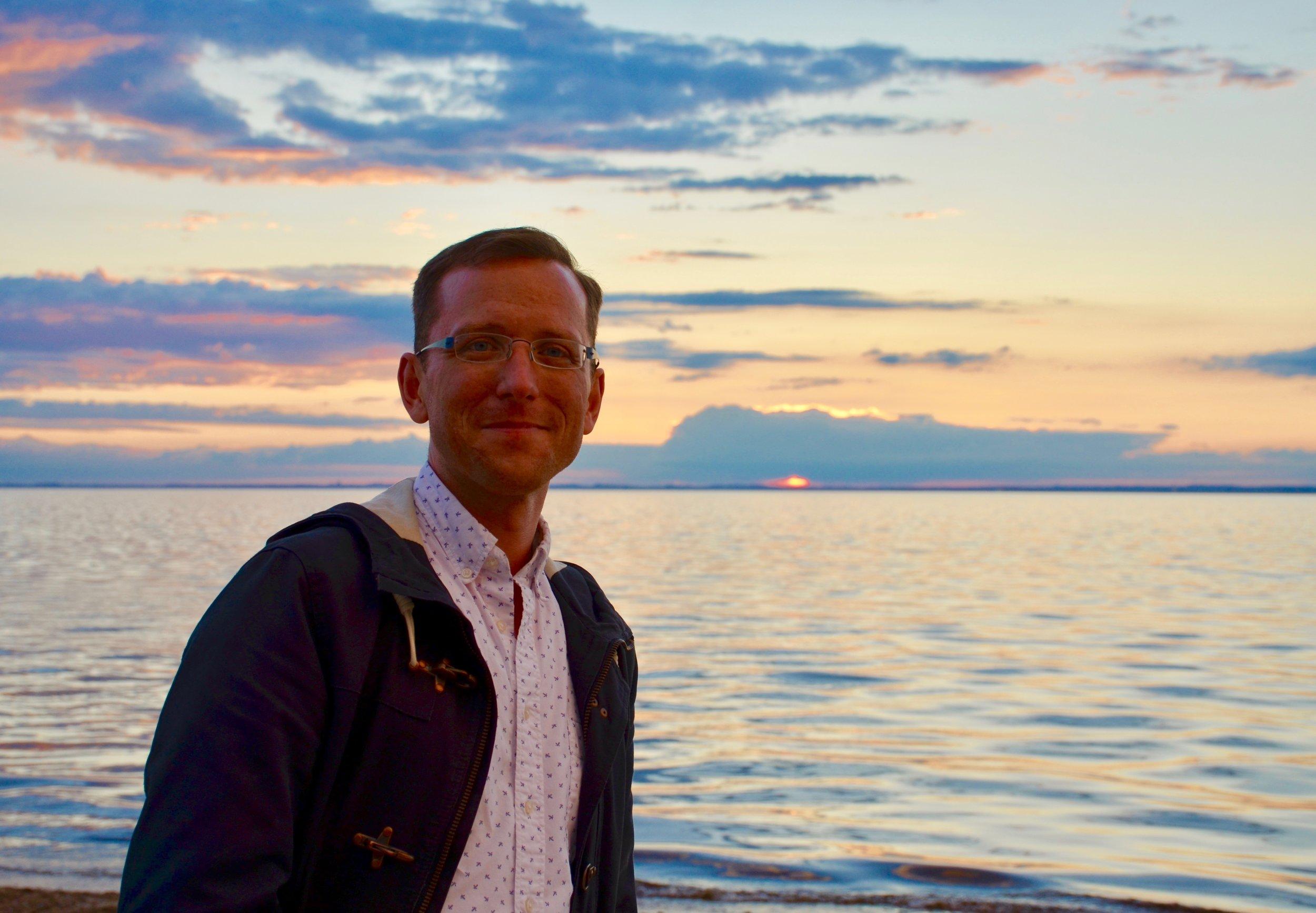 Christian Lane enjoys an evening along the Baltic Sea.