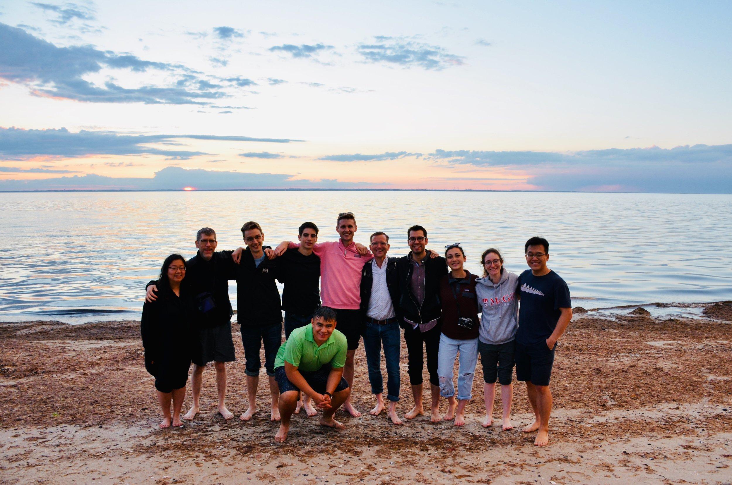 Along the Baltic Sea at sunset.