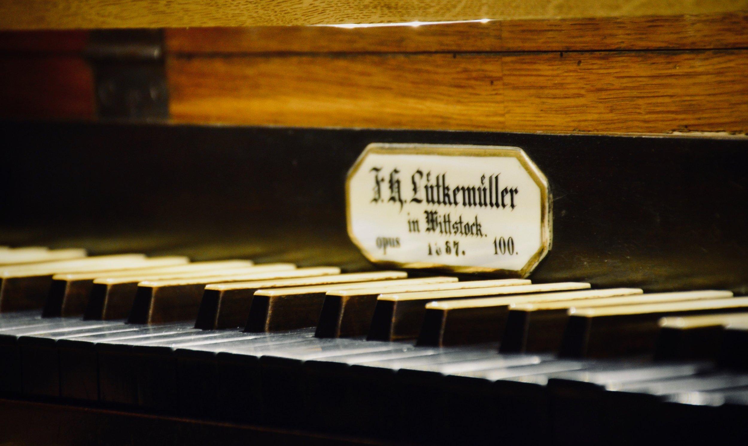 Console detail, 1867 Lütkemüller Organ, St. Petri-Kirche, Seehausen.