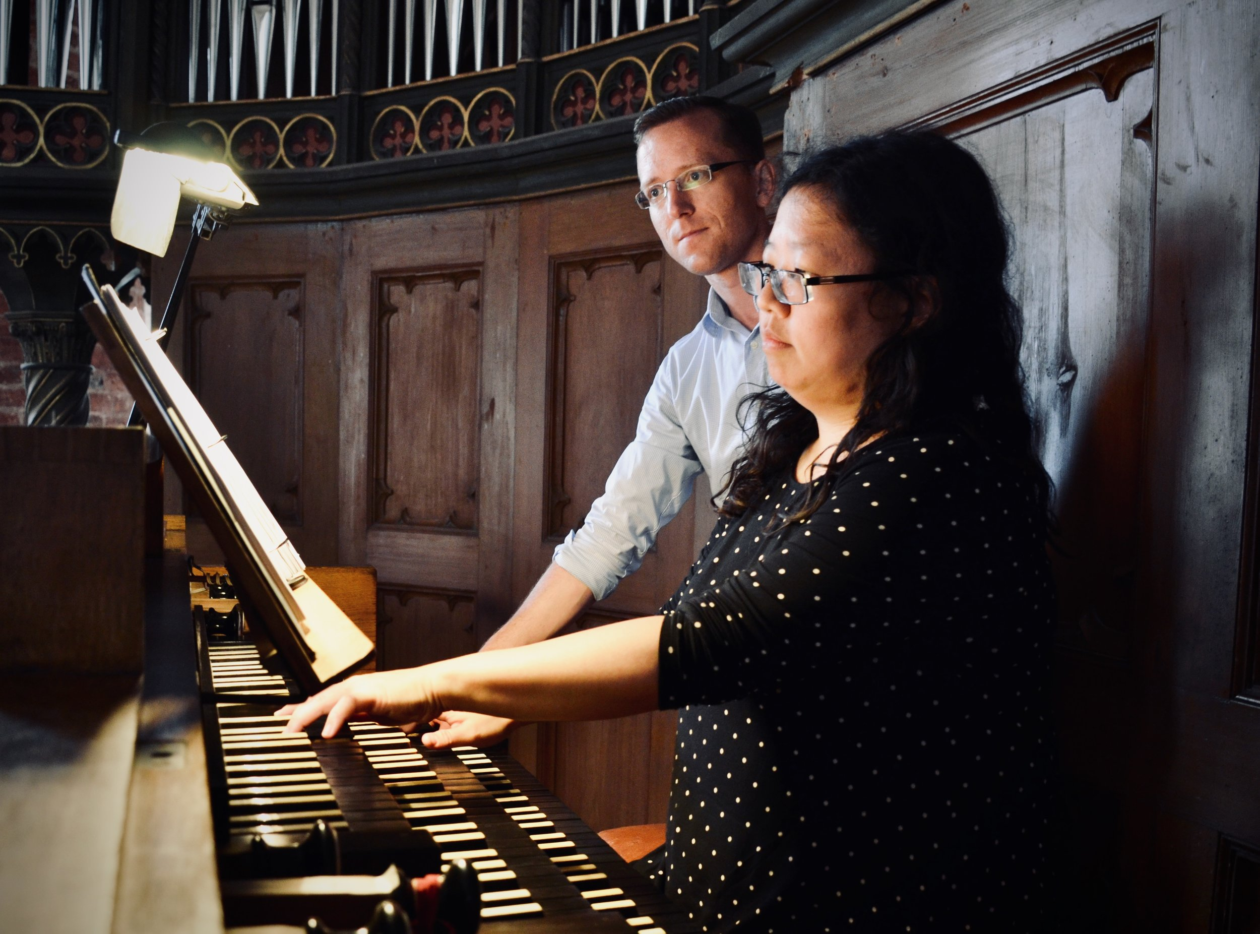 Jennifer Hsiao plays the 1867 Lütkemüller Organ, St. Petri-Kirche, Seehausen, as Christian Lane assists.