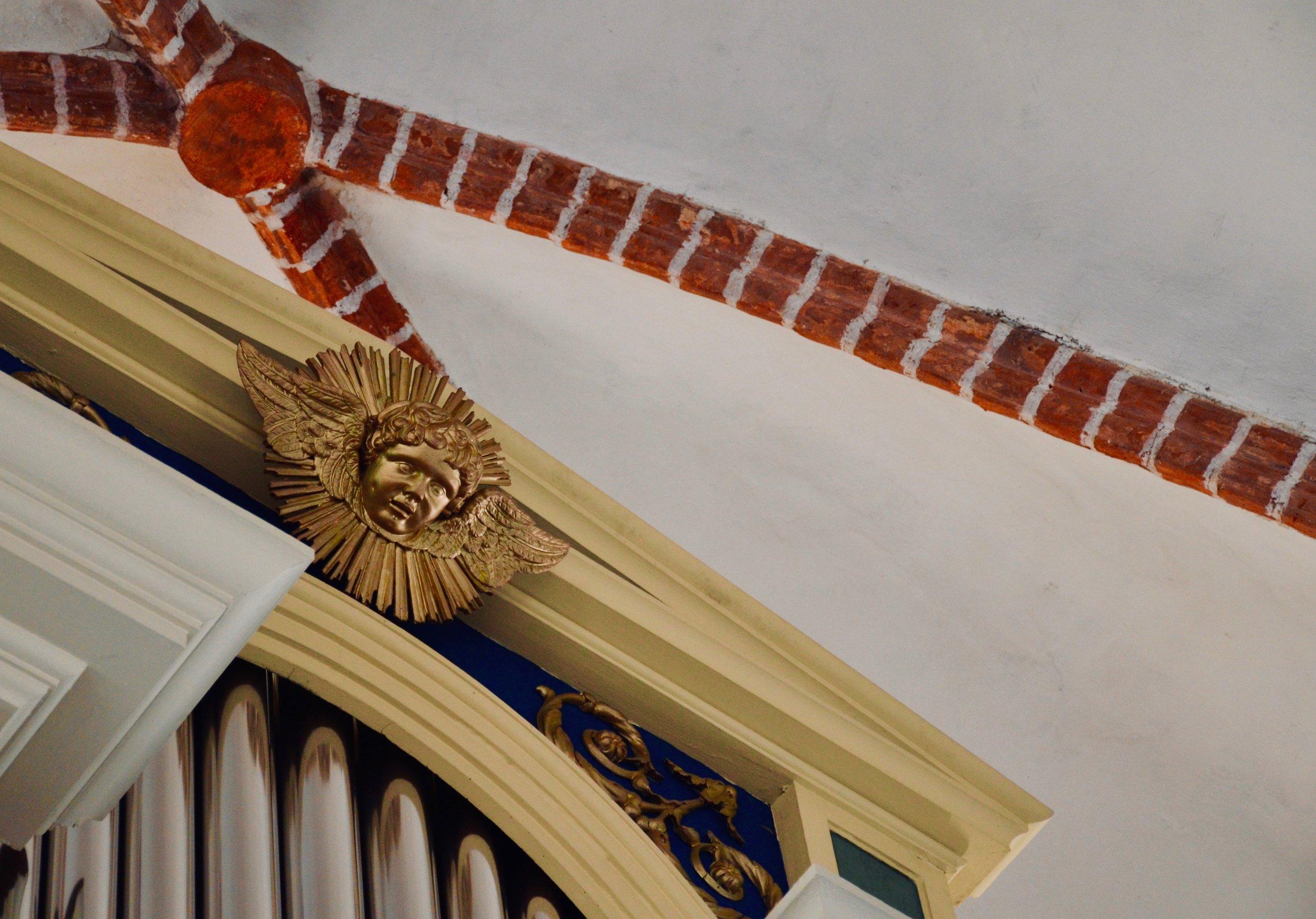 Case detail, 1825 Buchholz Organ in St. Nicolai-kirche, Osterburg.